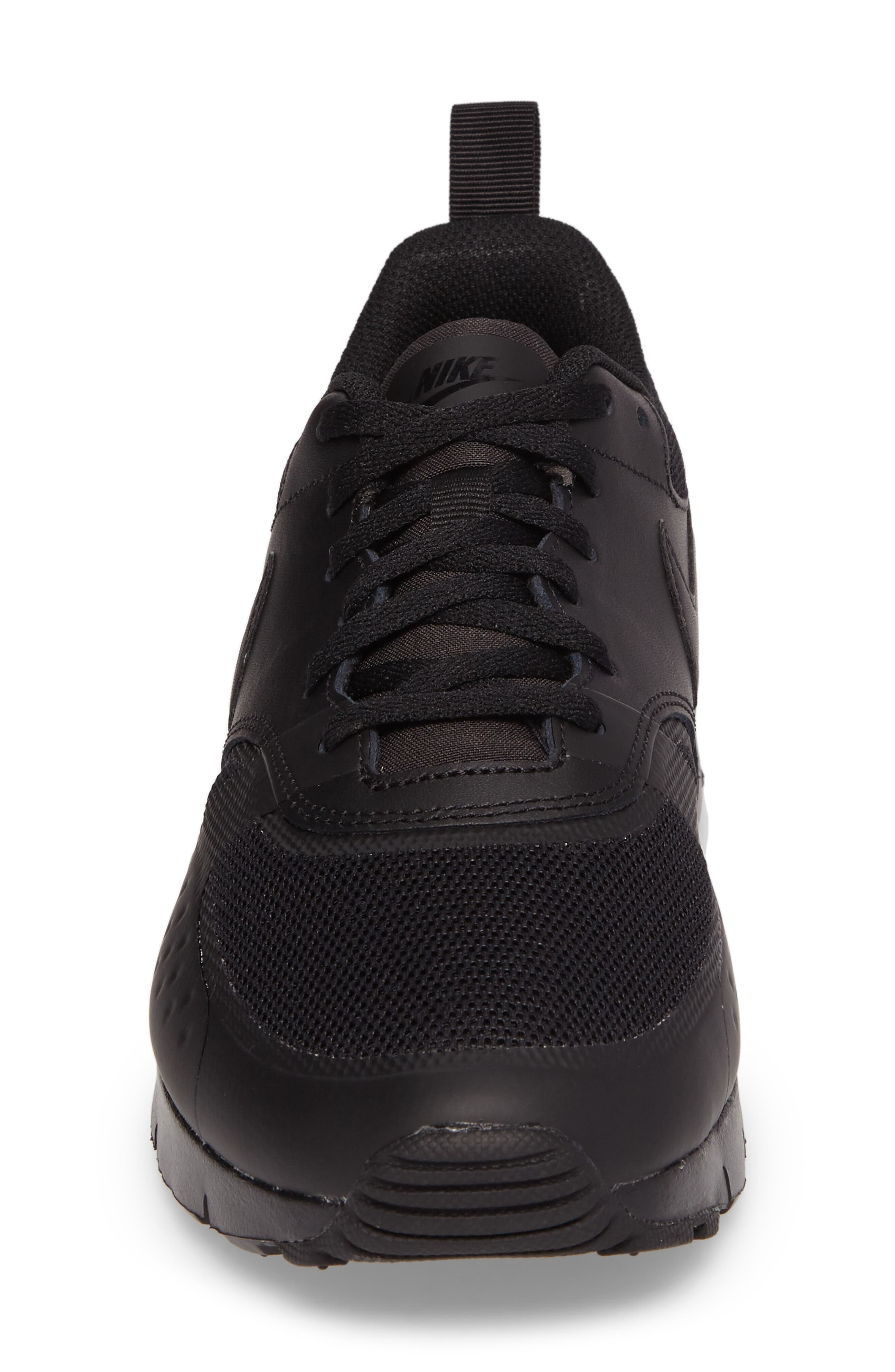 Air Max Vision Sneaker,                             Alternate thumbnail 4, color,                             Black