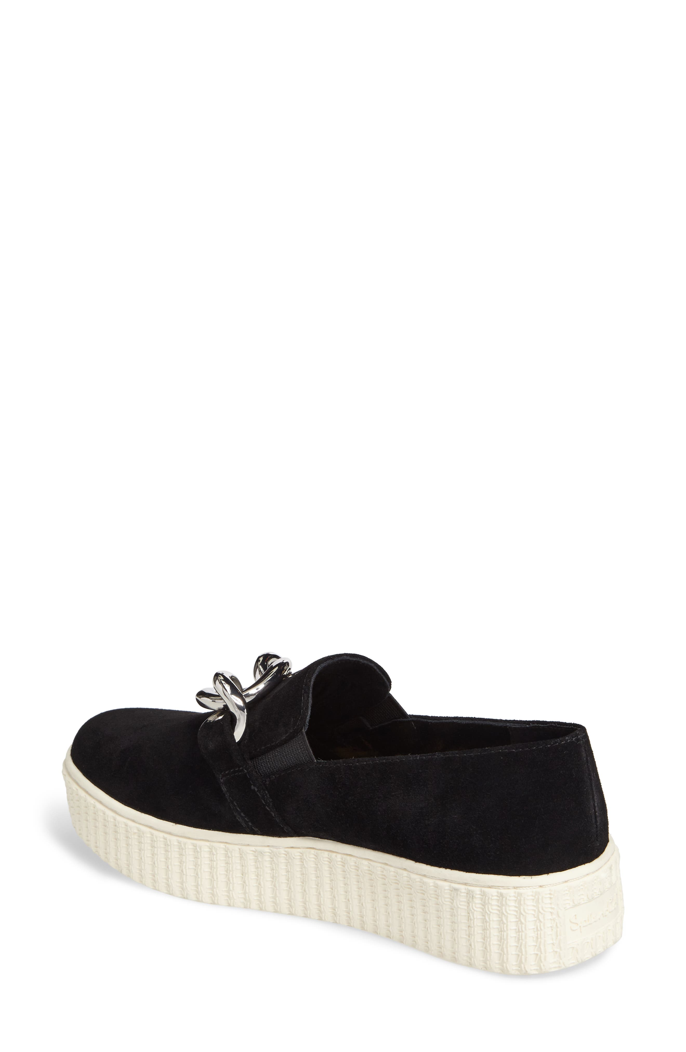 Roberta Platform Sneaker,                             Alternate thumbnail 2, color,                             Black Suede