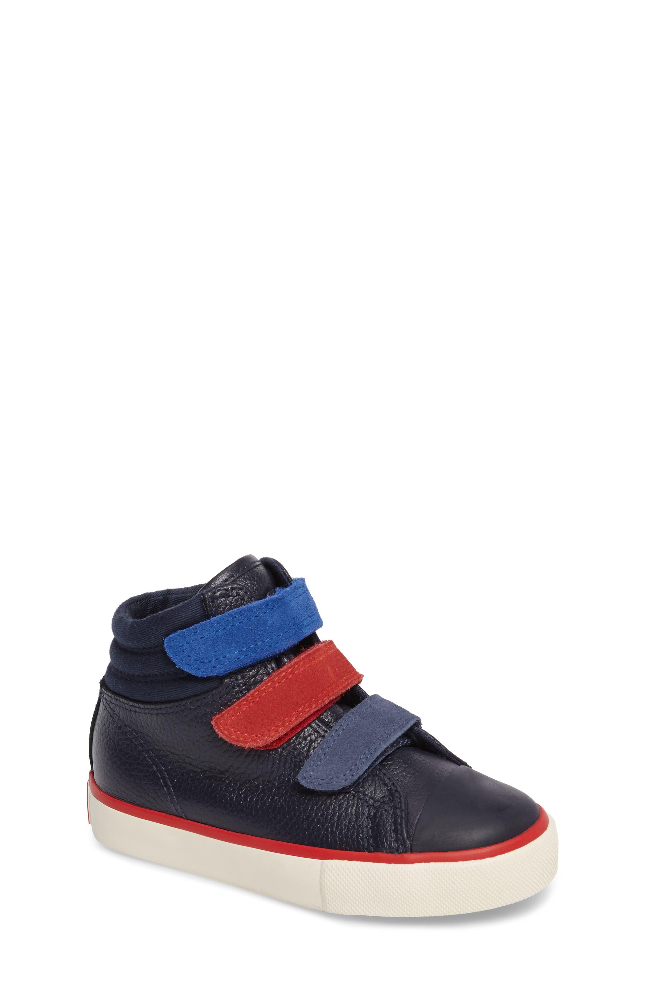 High Top Sneaker,                         Main,                         color, Navy