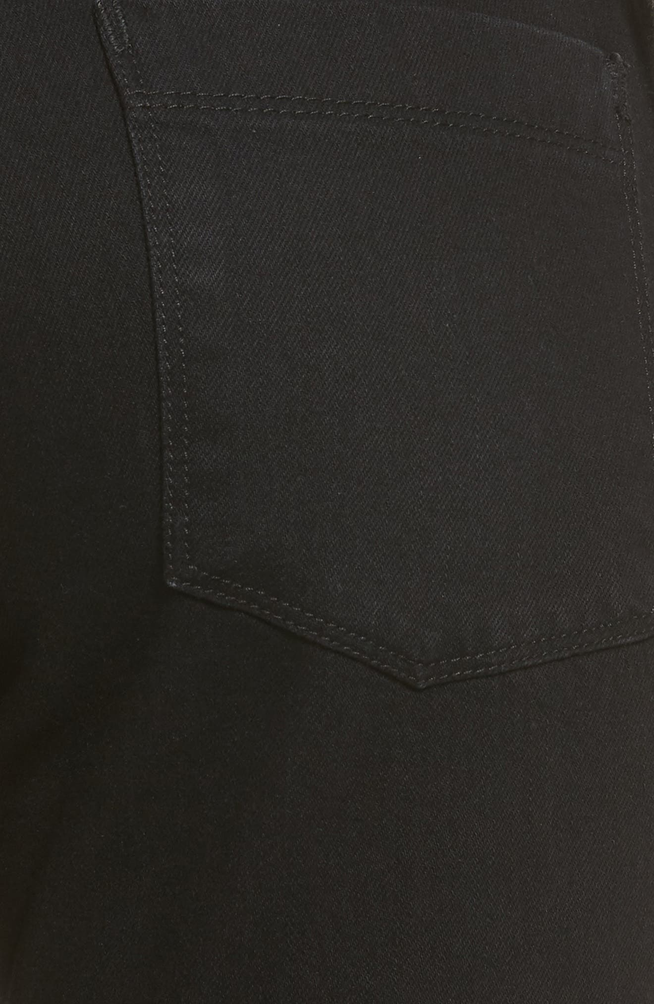 Alternate Image 5  - PARKER SMITH Anti-Fit Ankle Straight Jeans (Black Magic)