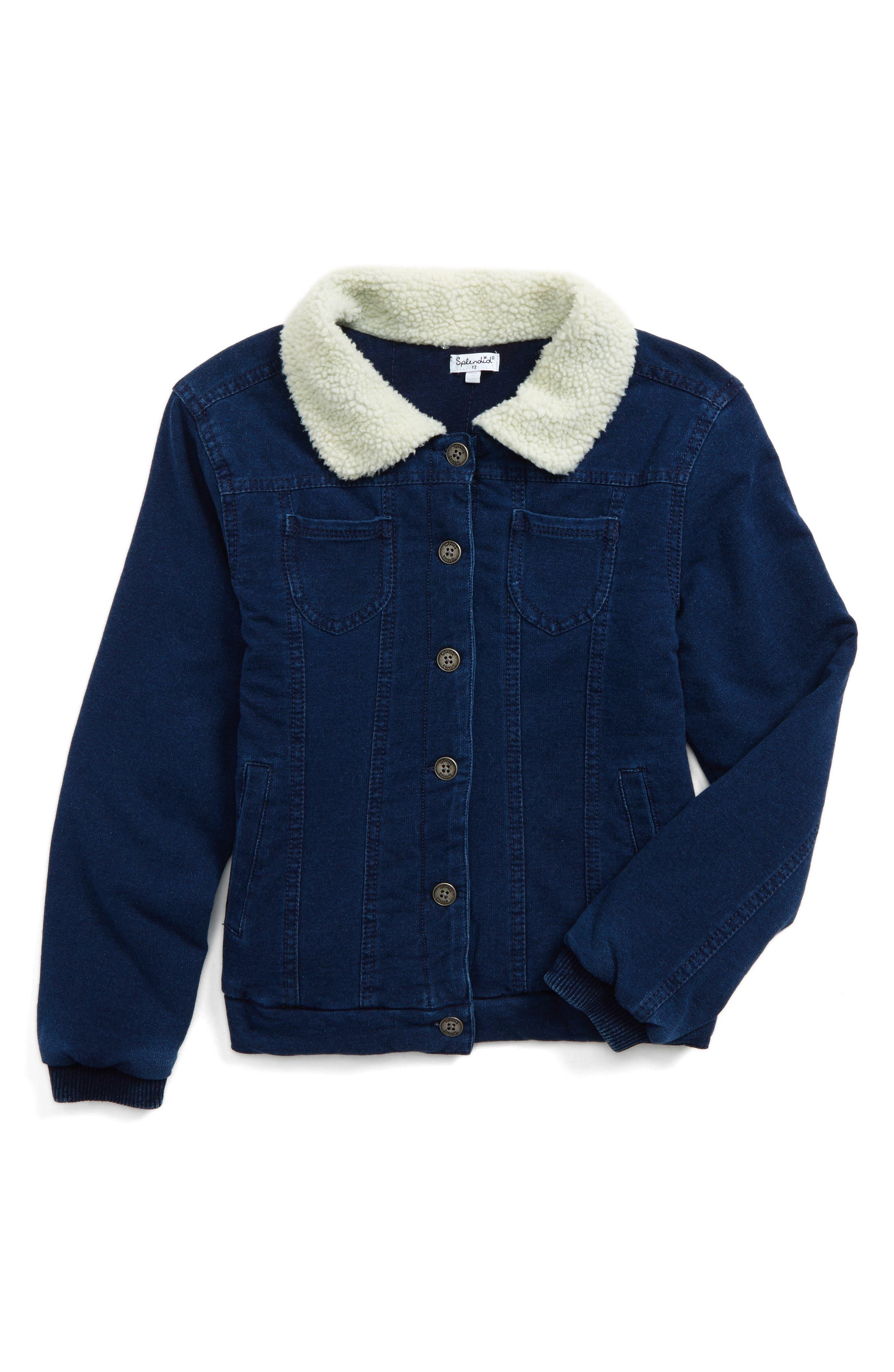Denim Jacket,                         Main,                         color, Indigo