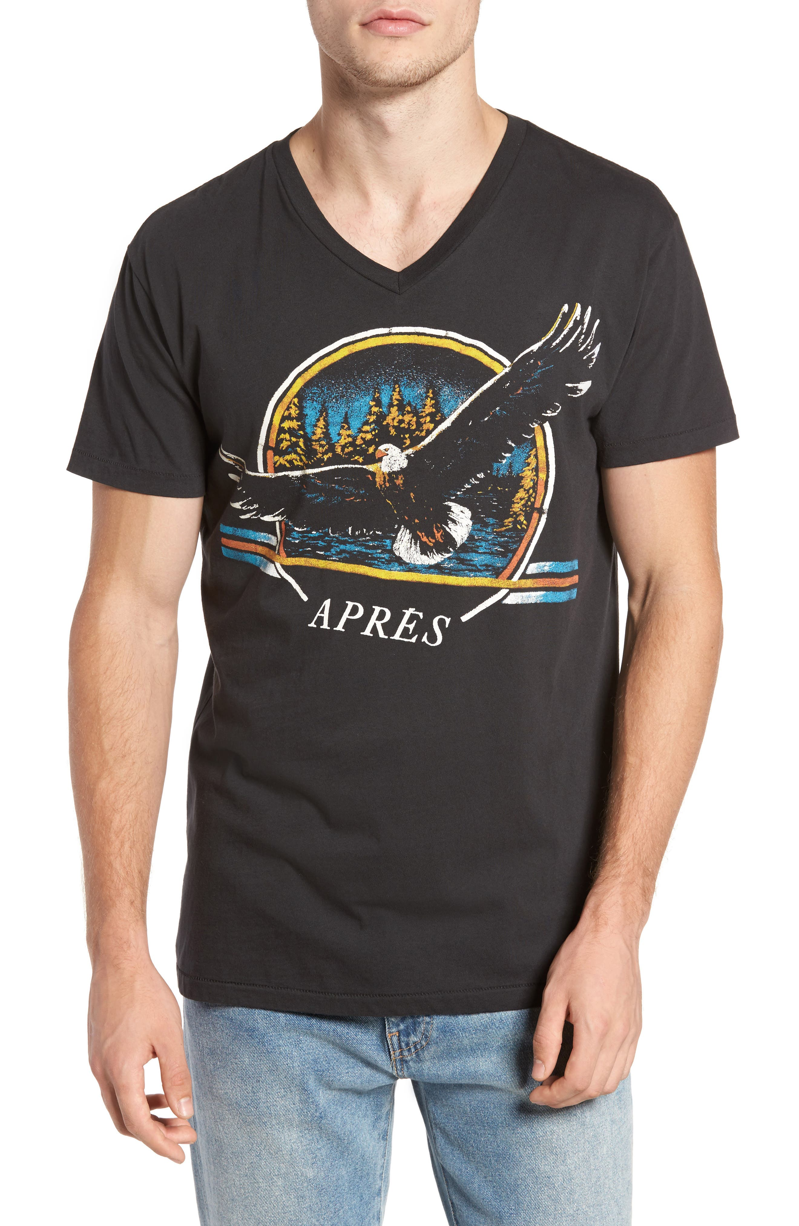 Aprés Freedom T-Shirt,                         Main,                         color, Black