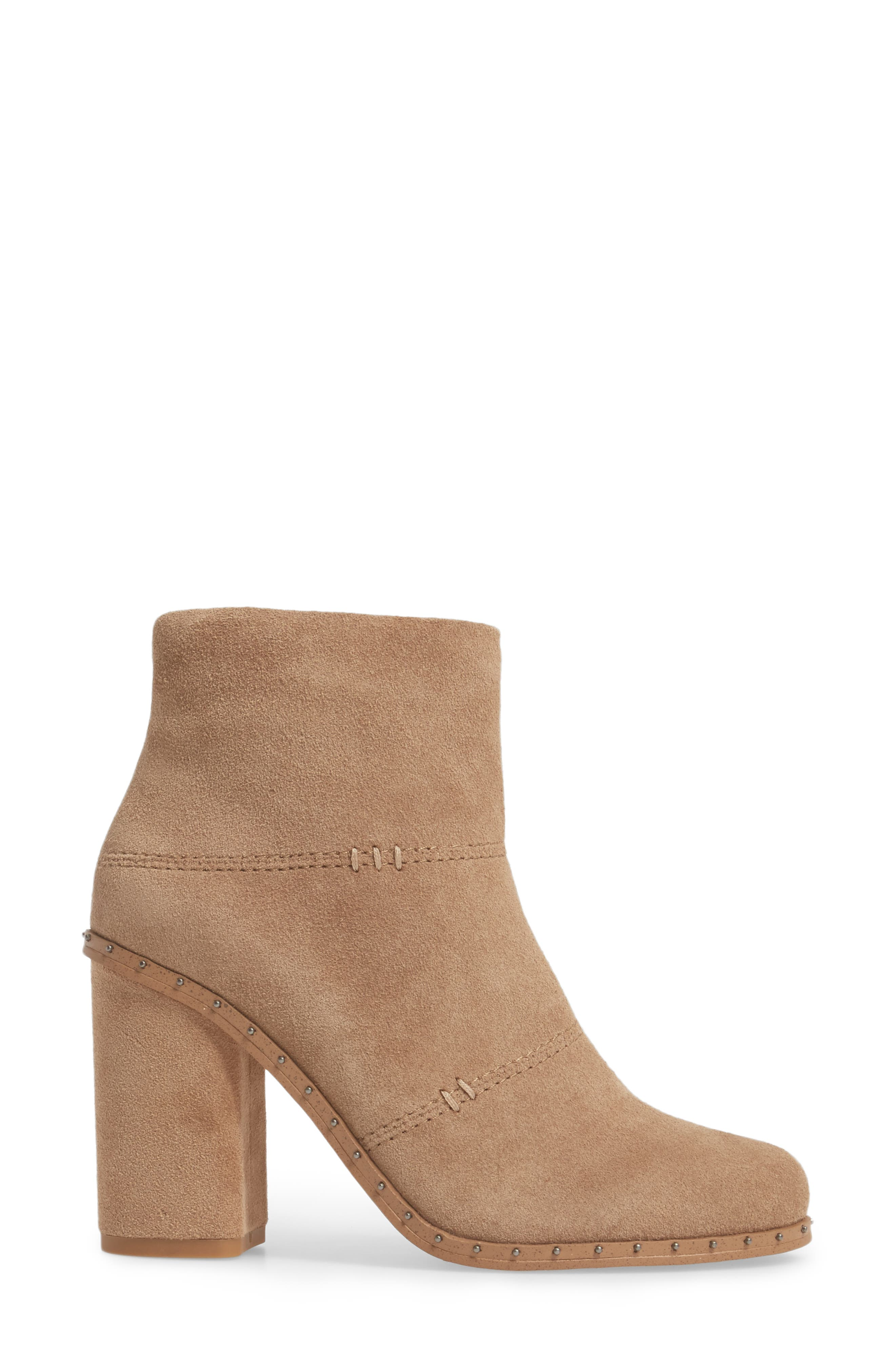 Rita Bootie,                             Alternate thumbnail 3, color,                             Light Taupe Suede