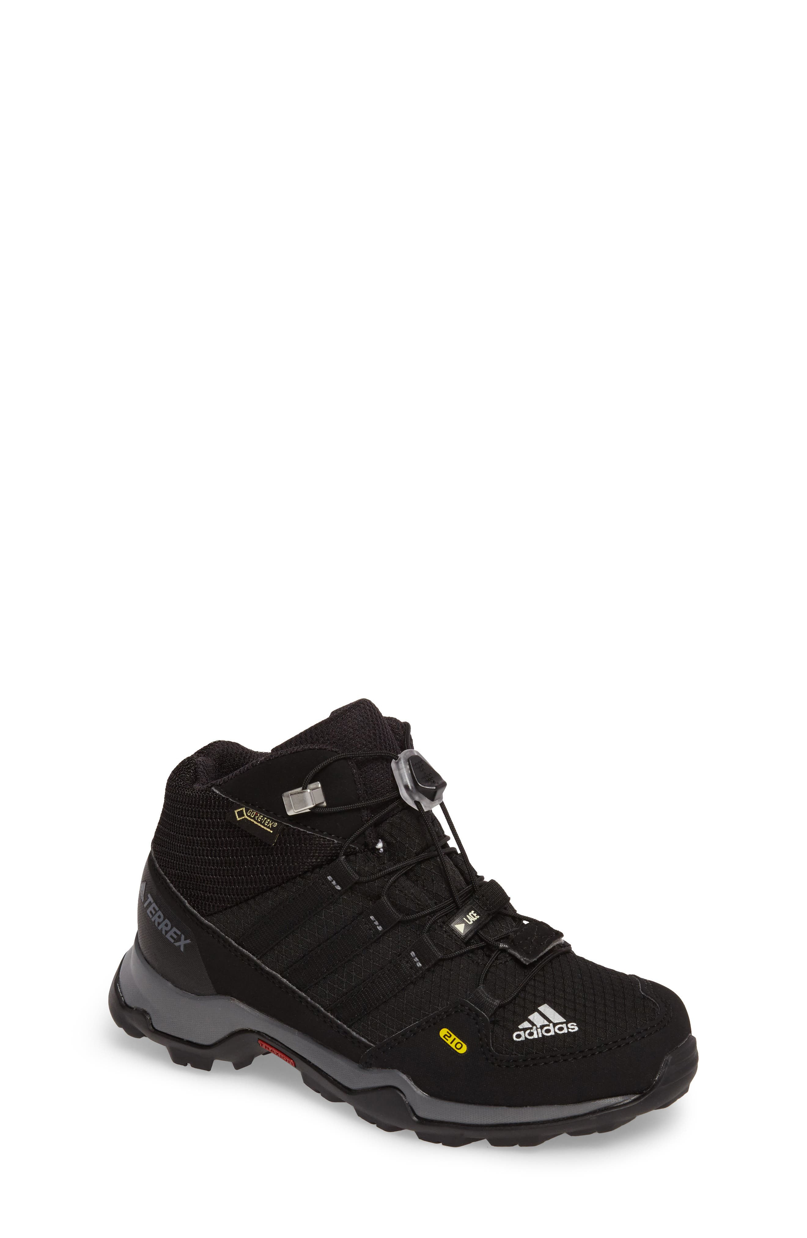 Terrex Mid Gore-Tex<sup>®</sup> Insulated Waterproof Sneaker Boot,                             Main thumbnail 1, color,                             Black/ Black/ Vista Grey