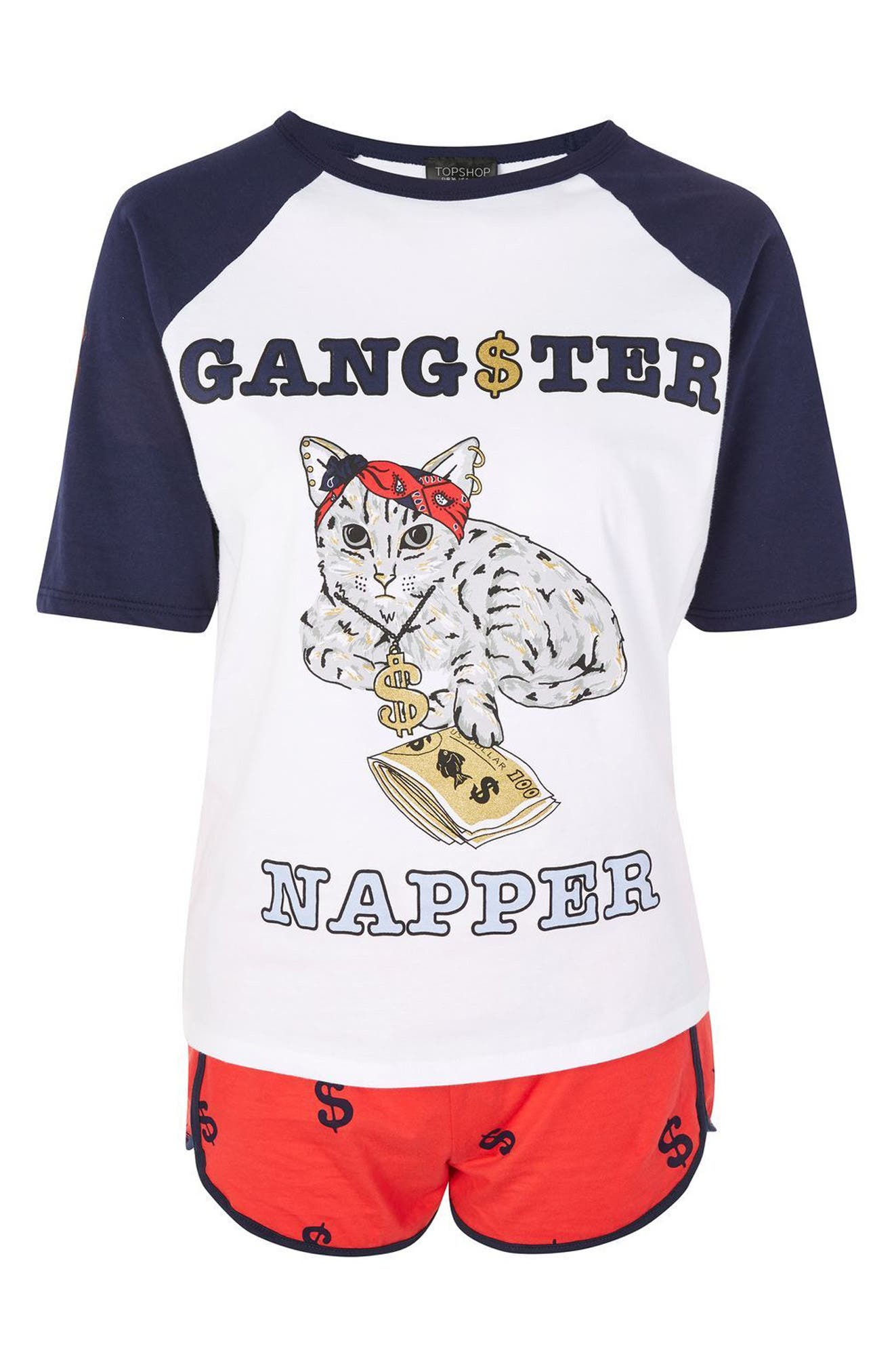 Alternate Image 3  - Topshop Gangster Napper Pajamas