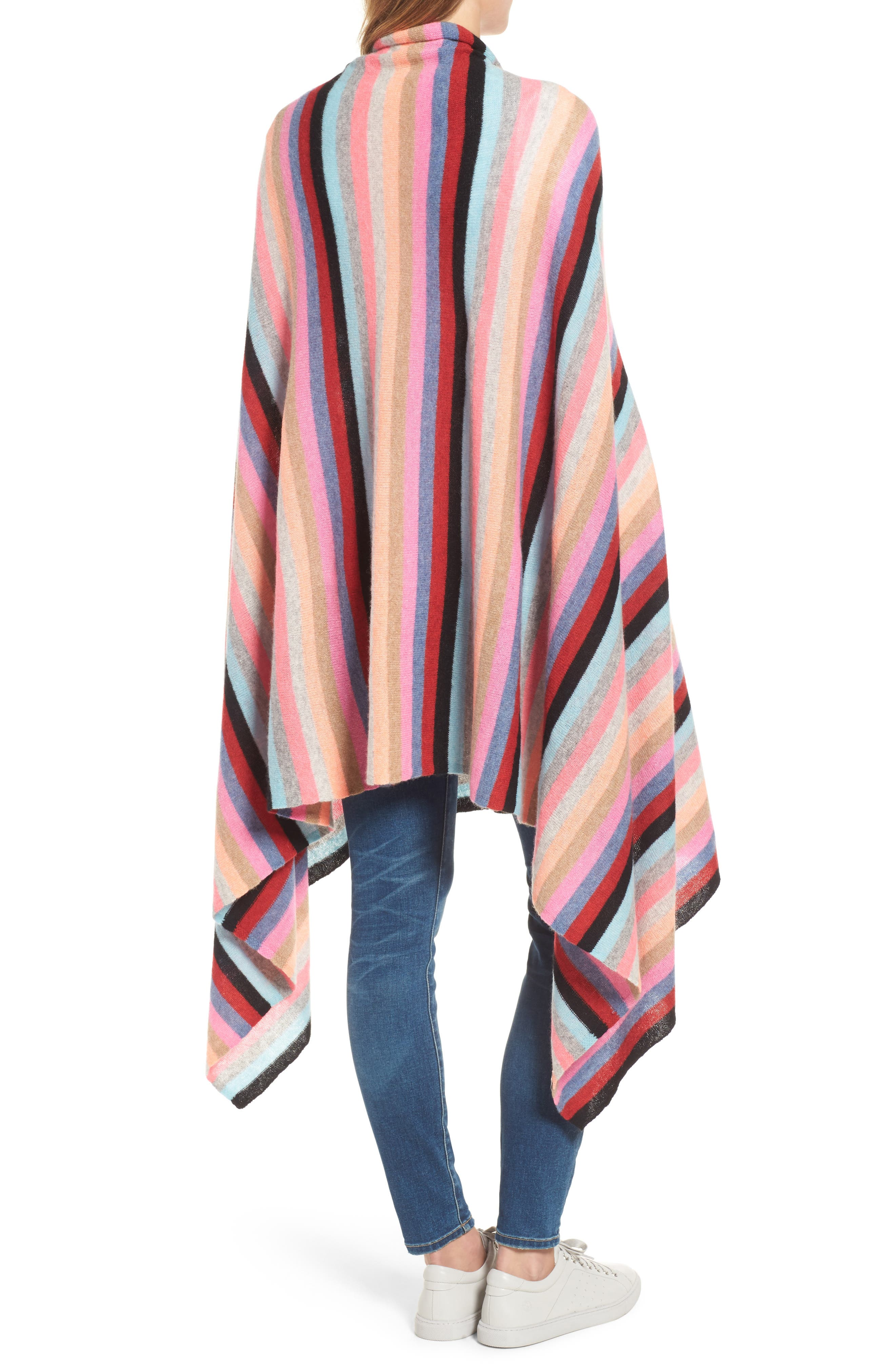 Alternate Image 2  - White + Warren Travel Stripe Cashmere Wrap