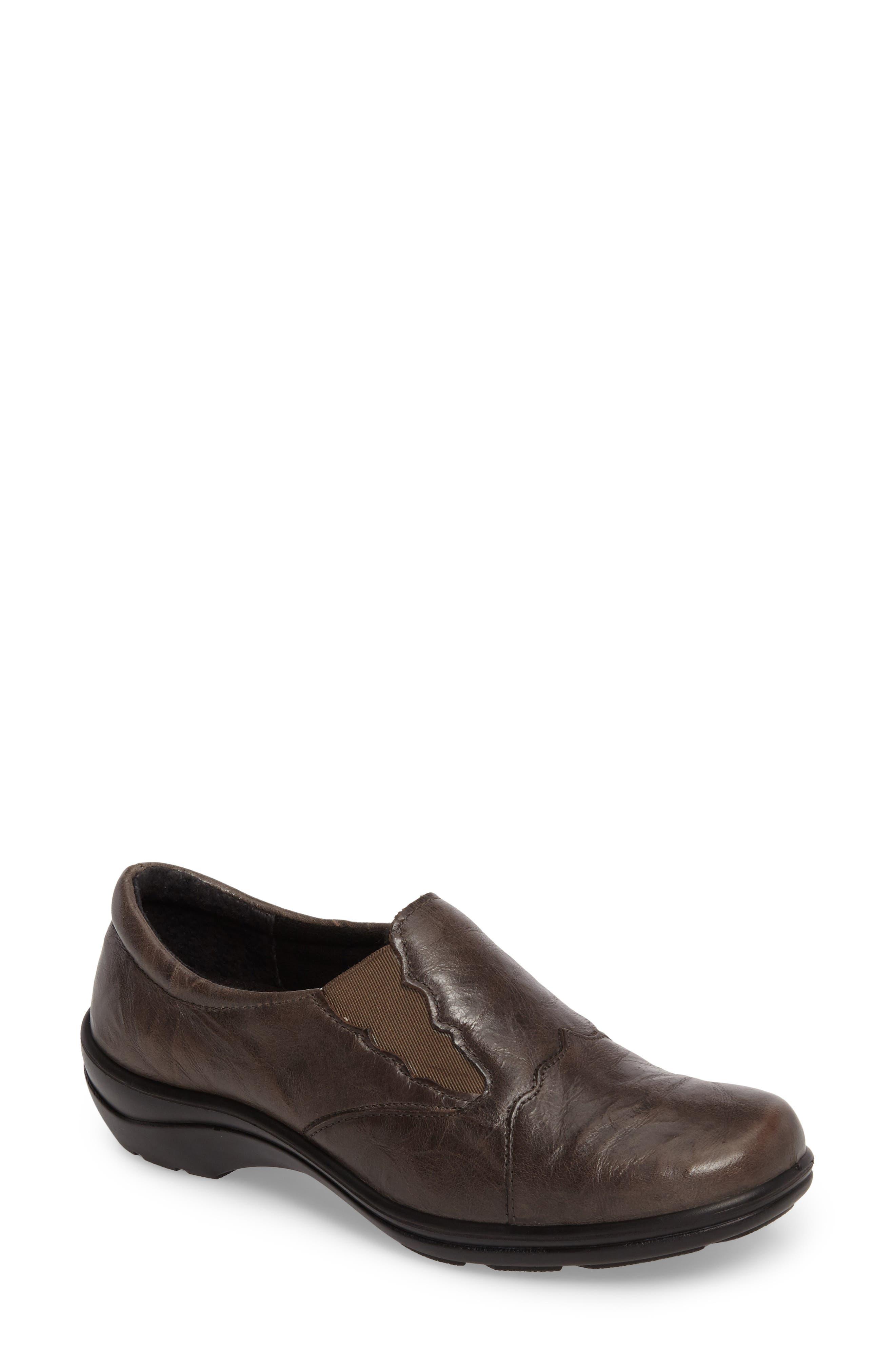 'Cassie 24' Flat,                             Main thumbnail 1, color,                             Graphite Leather