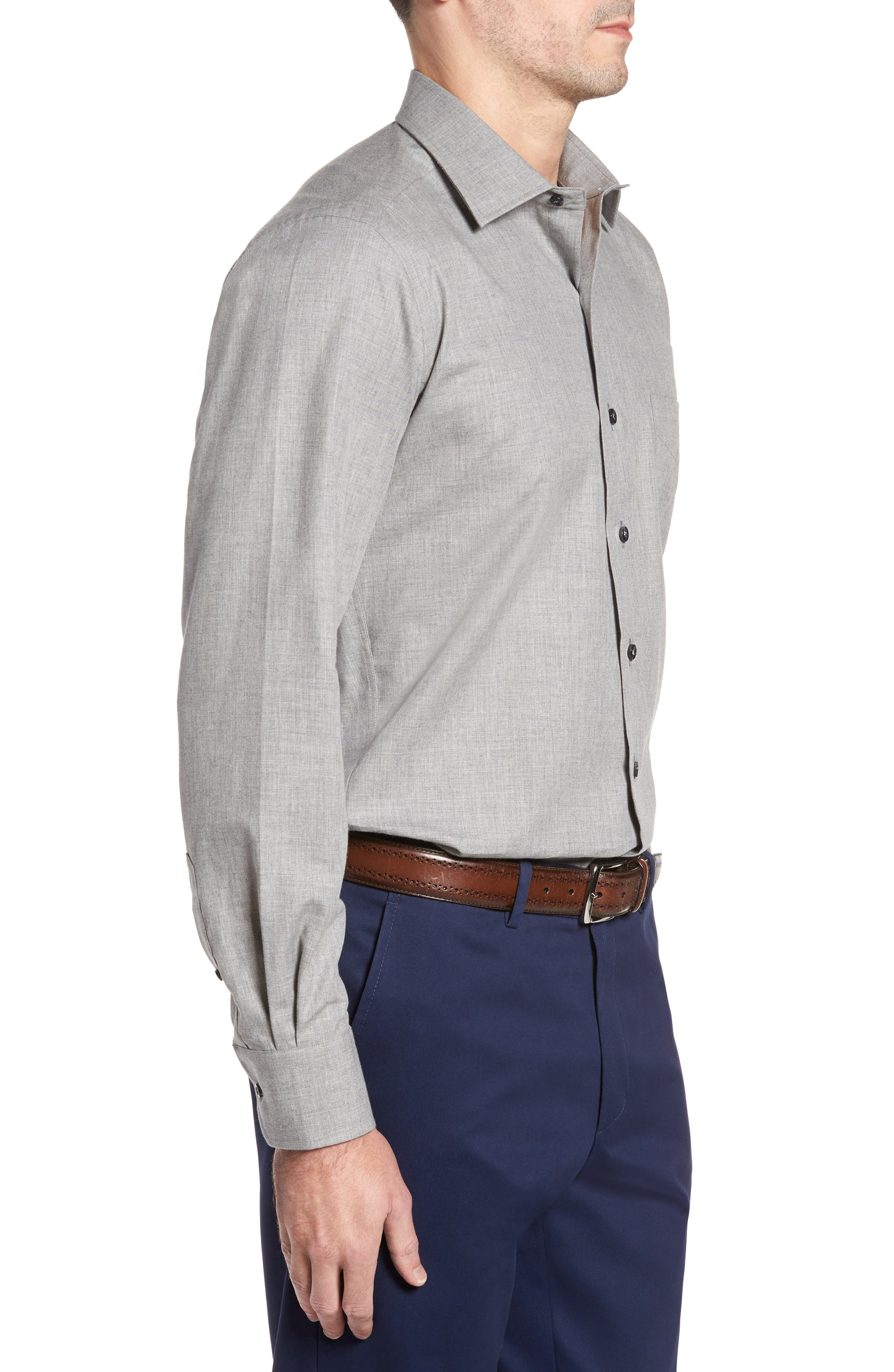 Alternate Image 3  - David Donahue Regular Fit Sport Shirt
