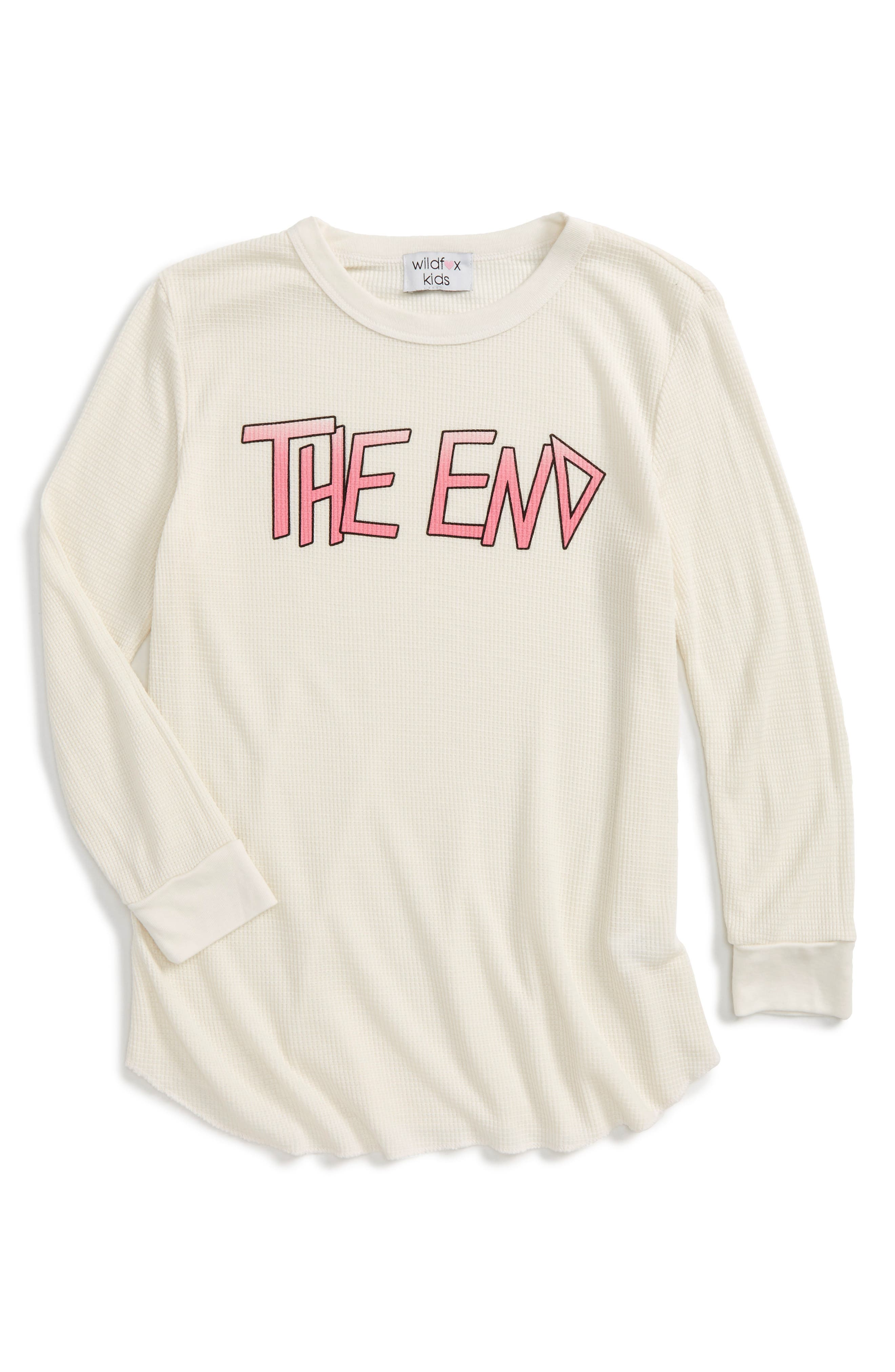 Wildfox The End Thermal Tee (Big Girls)