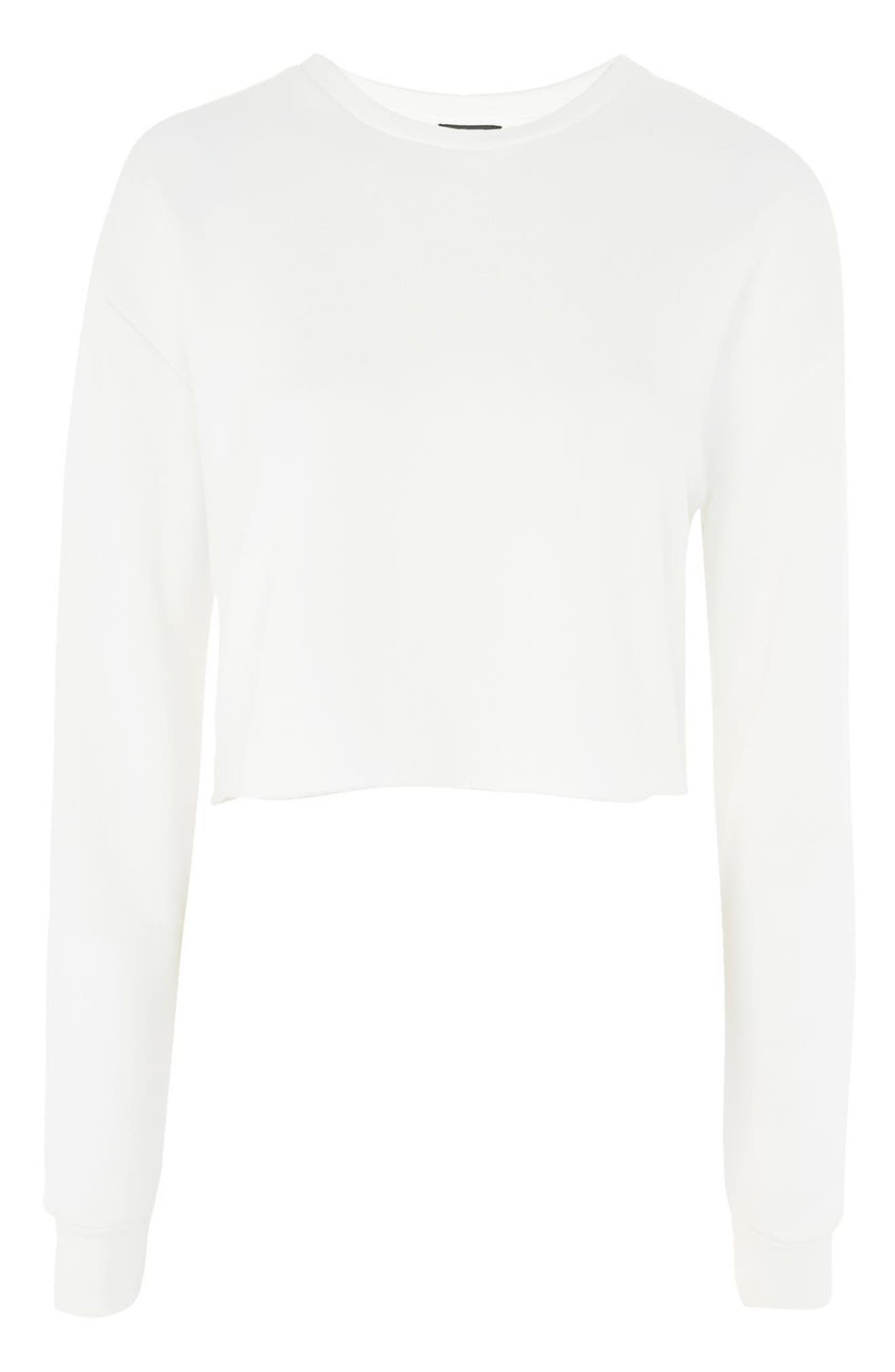 Alternate Image 3  - Topshop Crop Sweatshirt