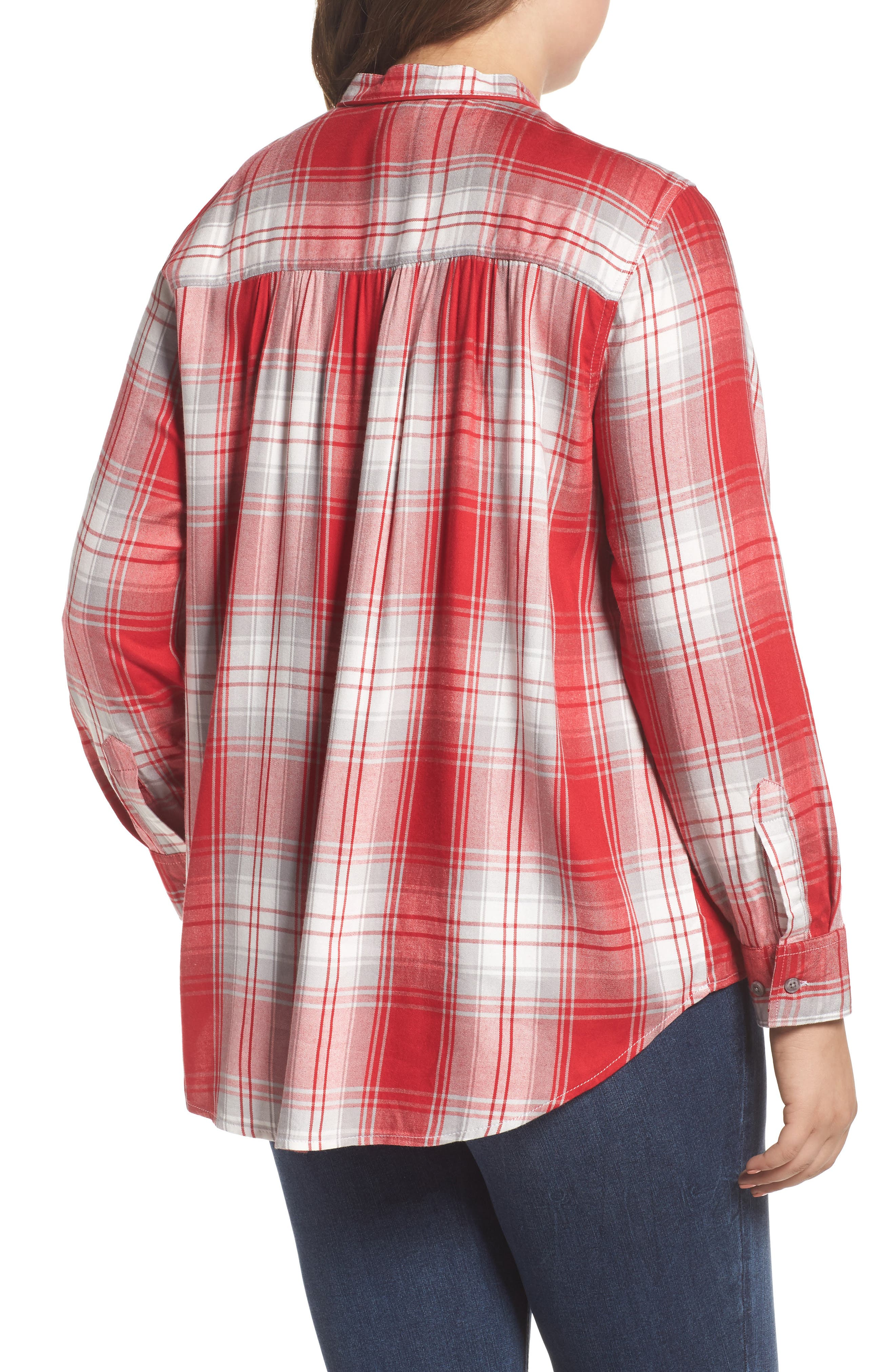 Alternate Image 2  - Melissa McCarthy Seven7 Plaid Shirt (Plus Size)