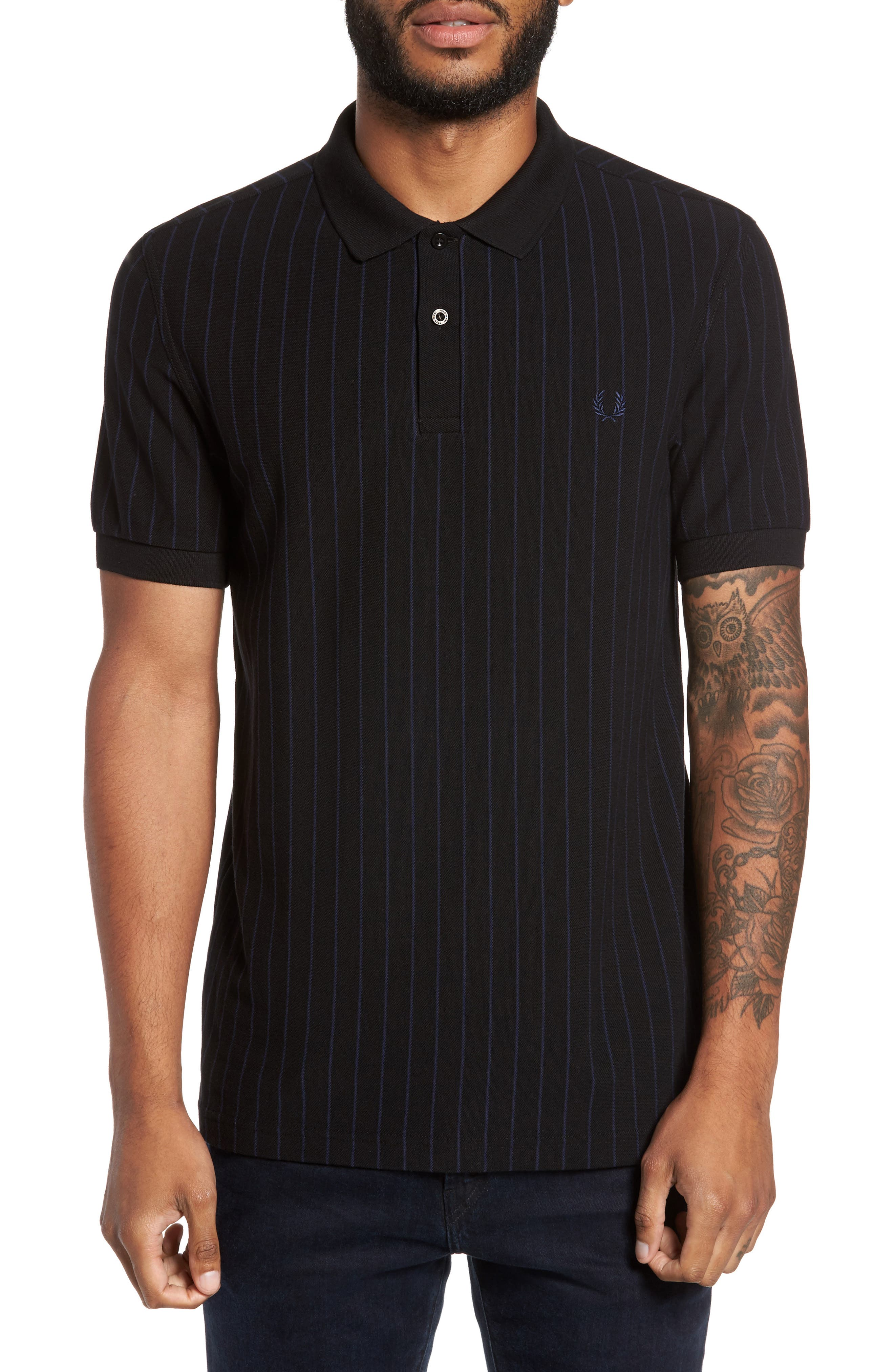 Fred Perry Pinstripe Piqué Polo