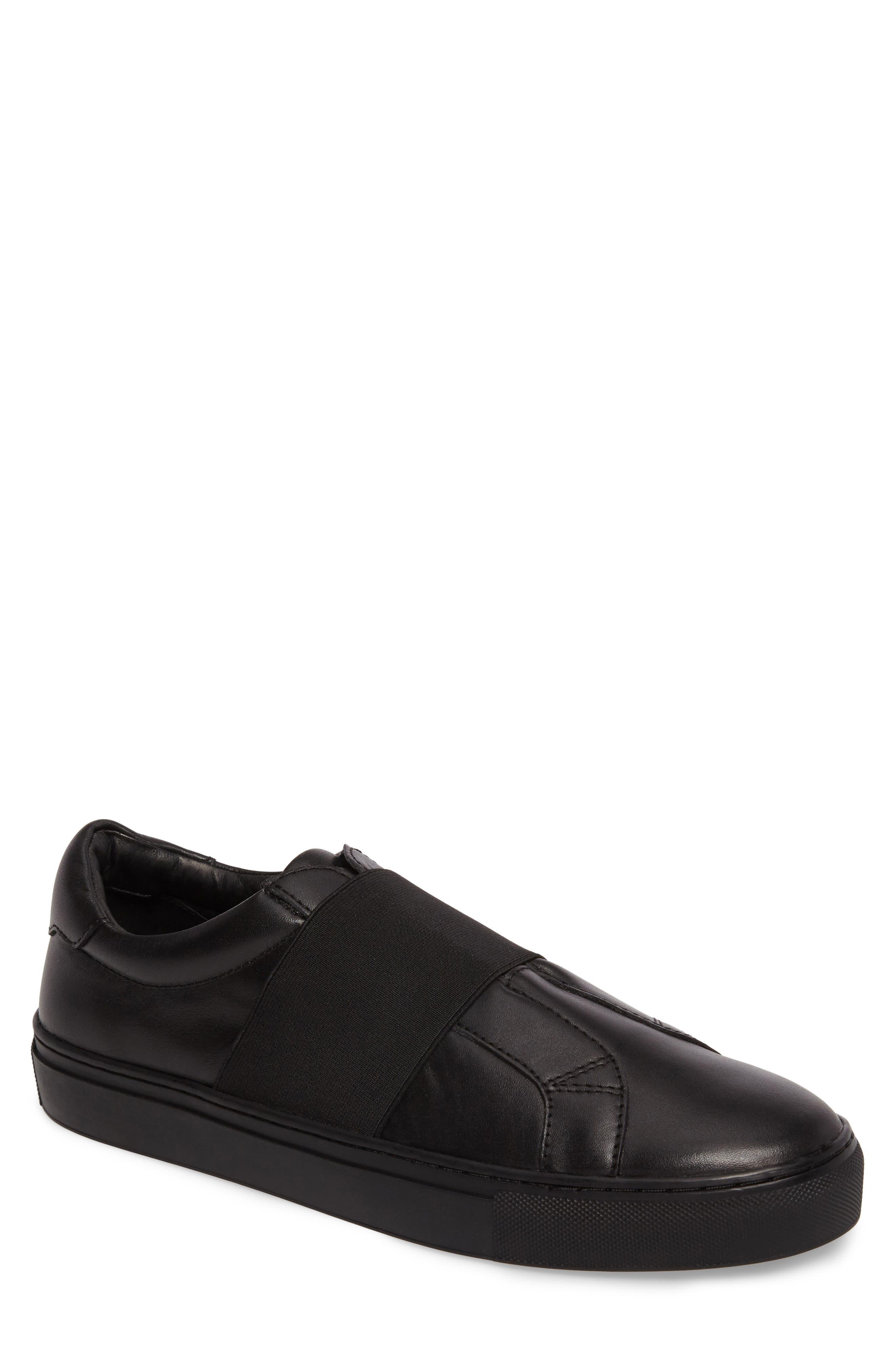 Darel Slip-On,                             Main thumbnail 1, color,                             Black Leather