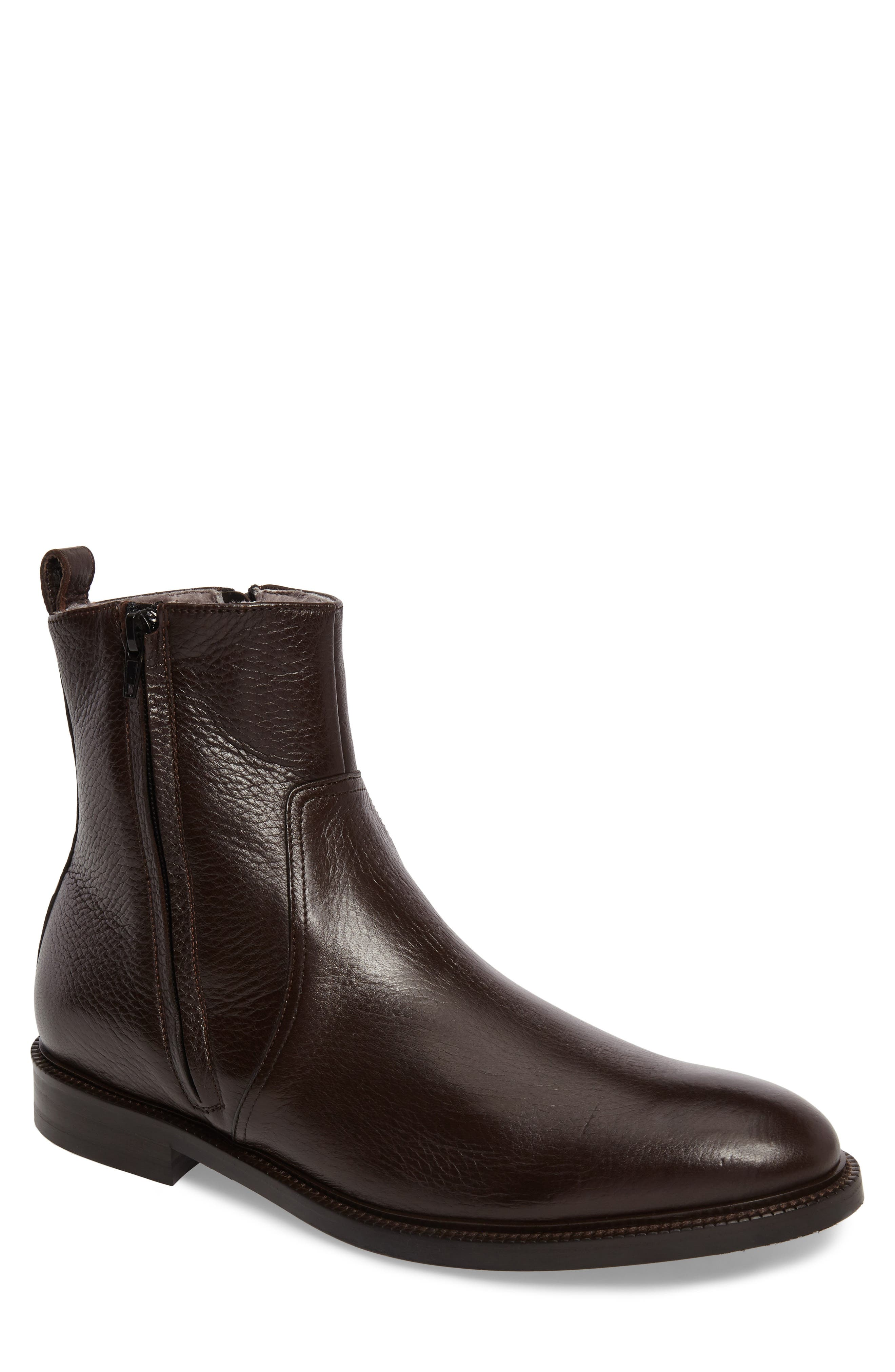 TO BOOT NEW YORK Sheldon Zip Boot with Genuine Shearling