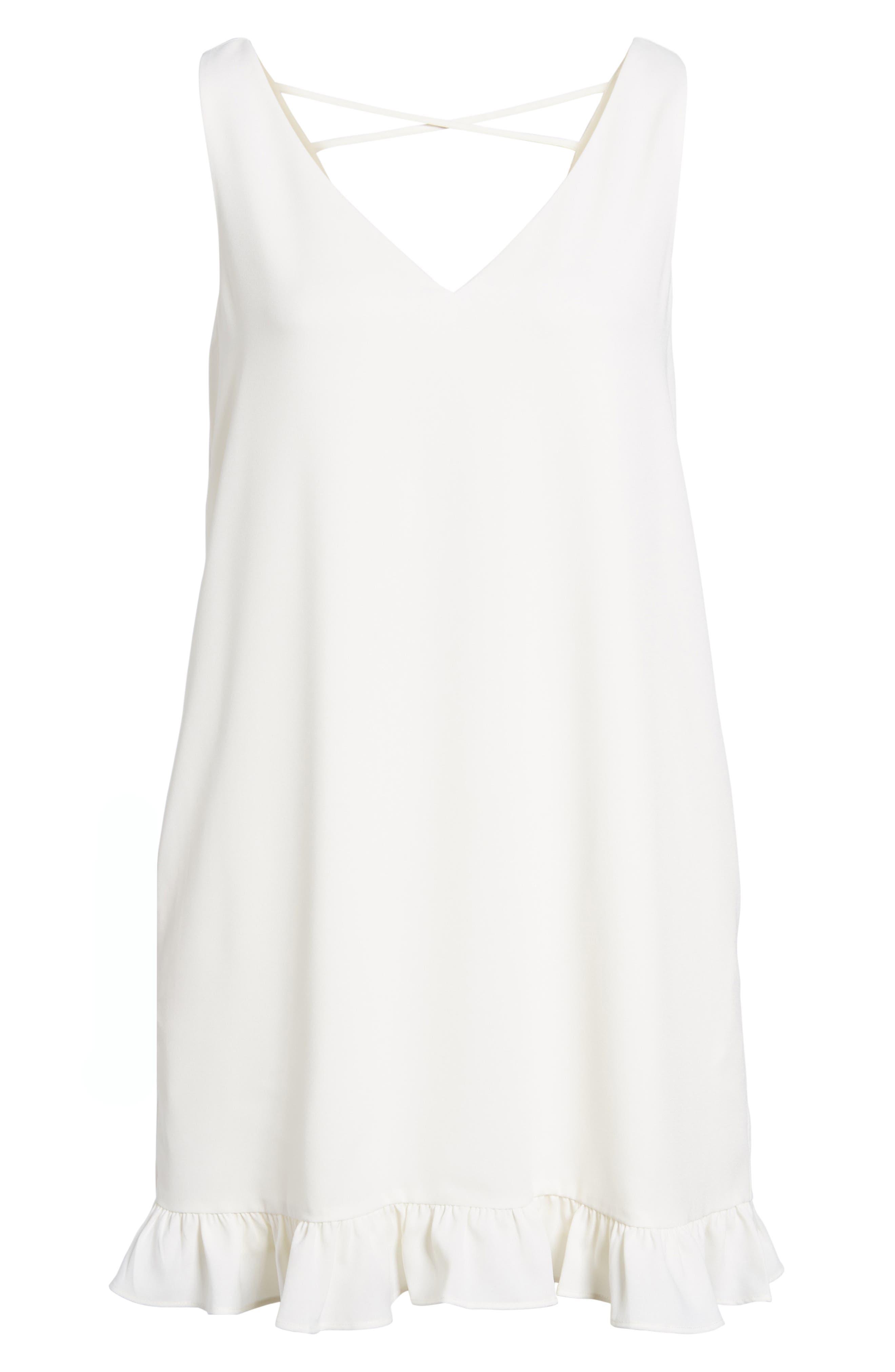 Agnes Shift Dress,                             Alternate thumbnail 6, color,                             Ivory