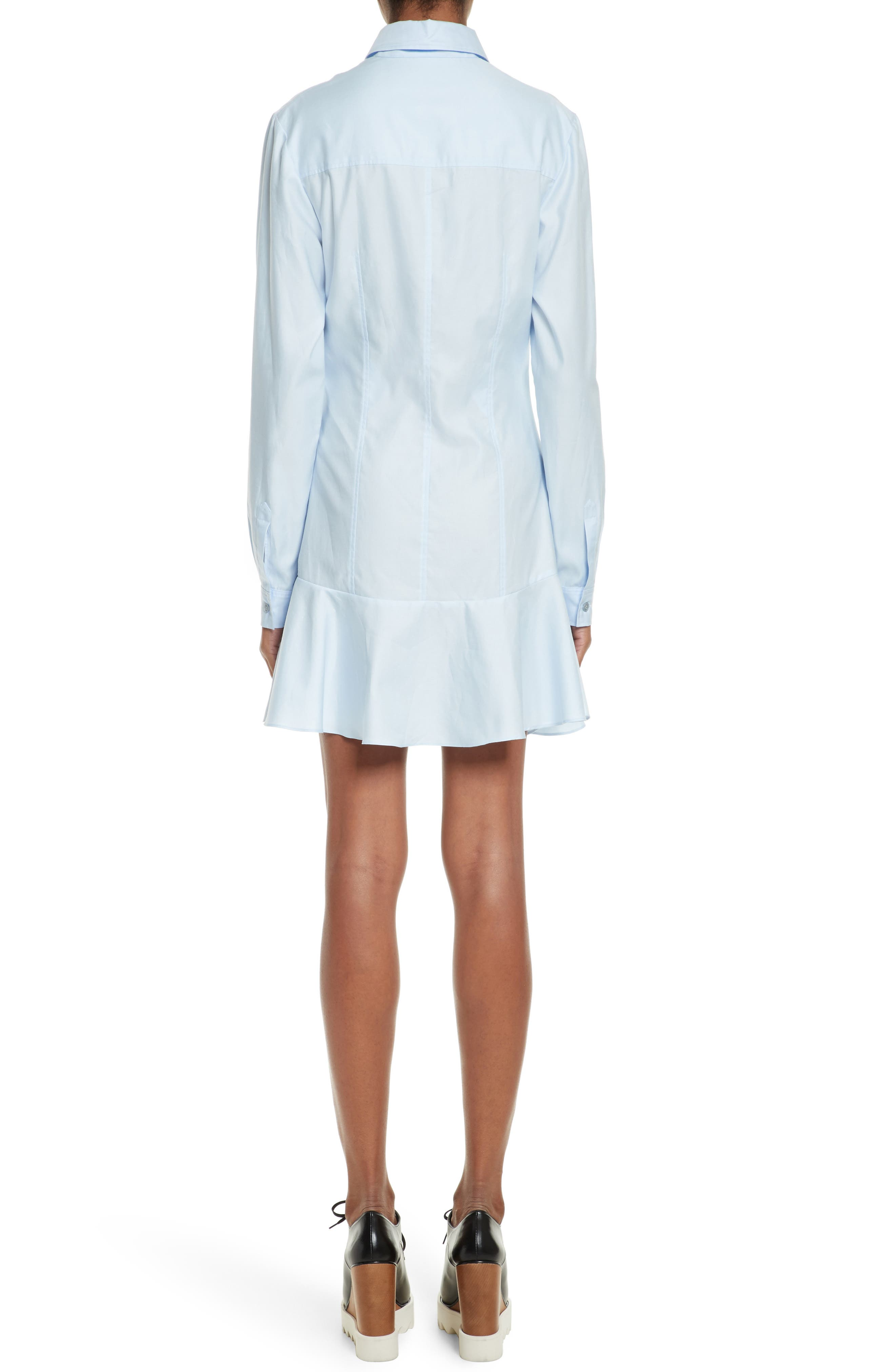 Carina Cotton Poplin Shirtdress,                             Alternate thumbnail 2, color,                             Oxford Blue