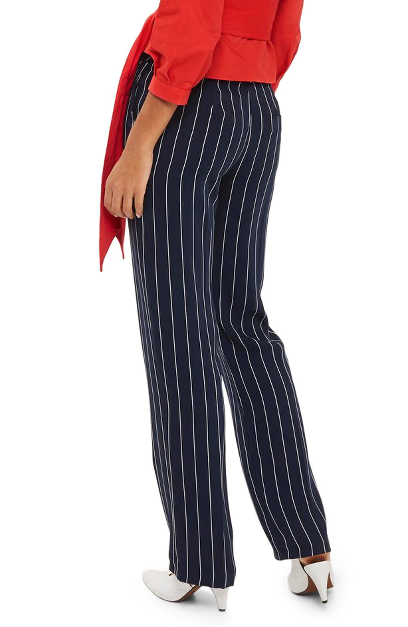 Main Image - Topshop Stripe Wide Leg Trousers
