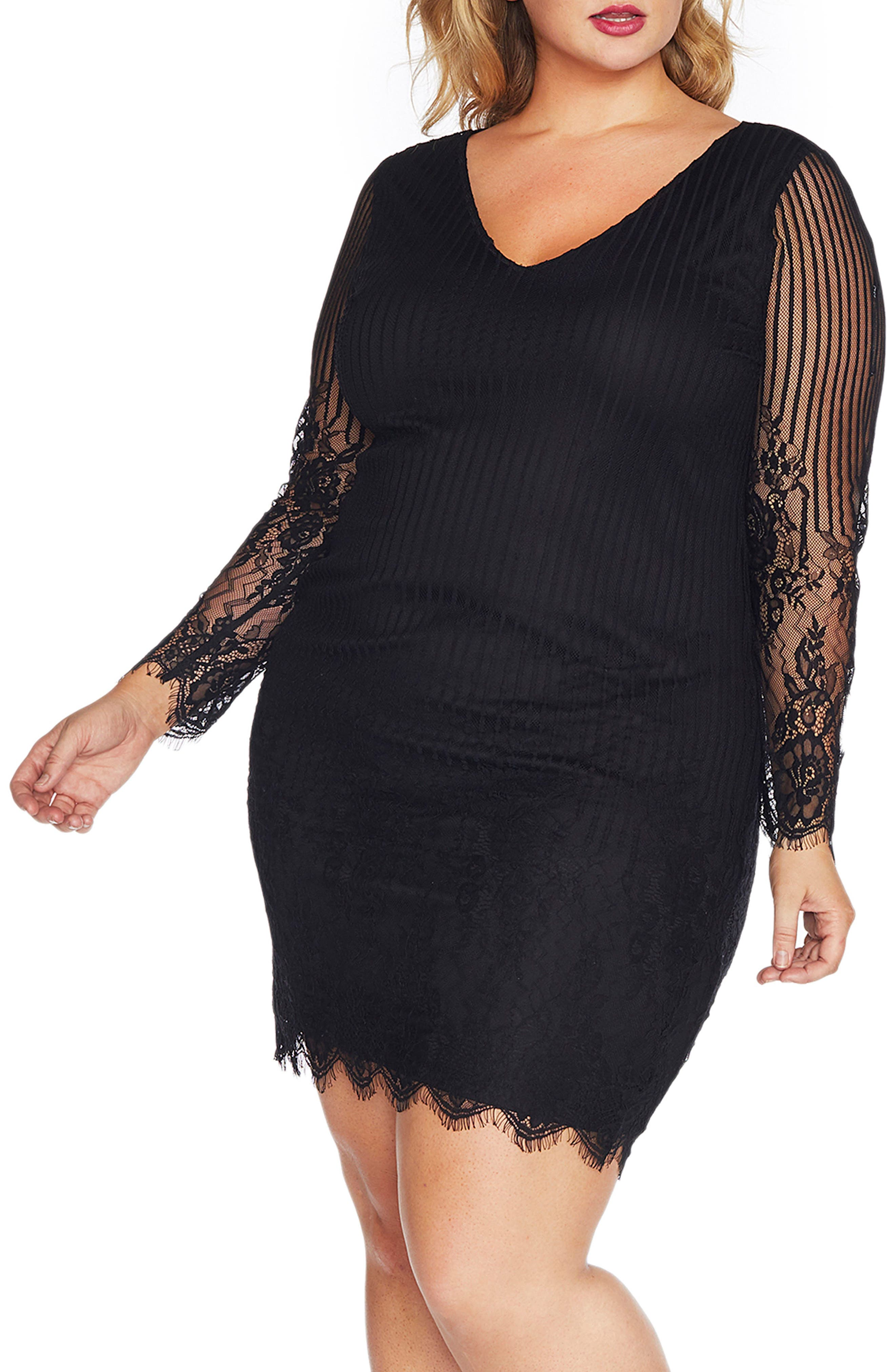 REBEL WILSON X ANGELS Lace Sheath Dress (Plus Size)