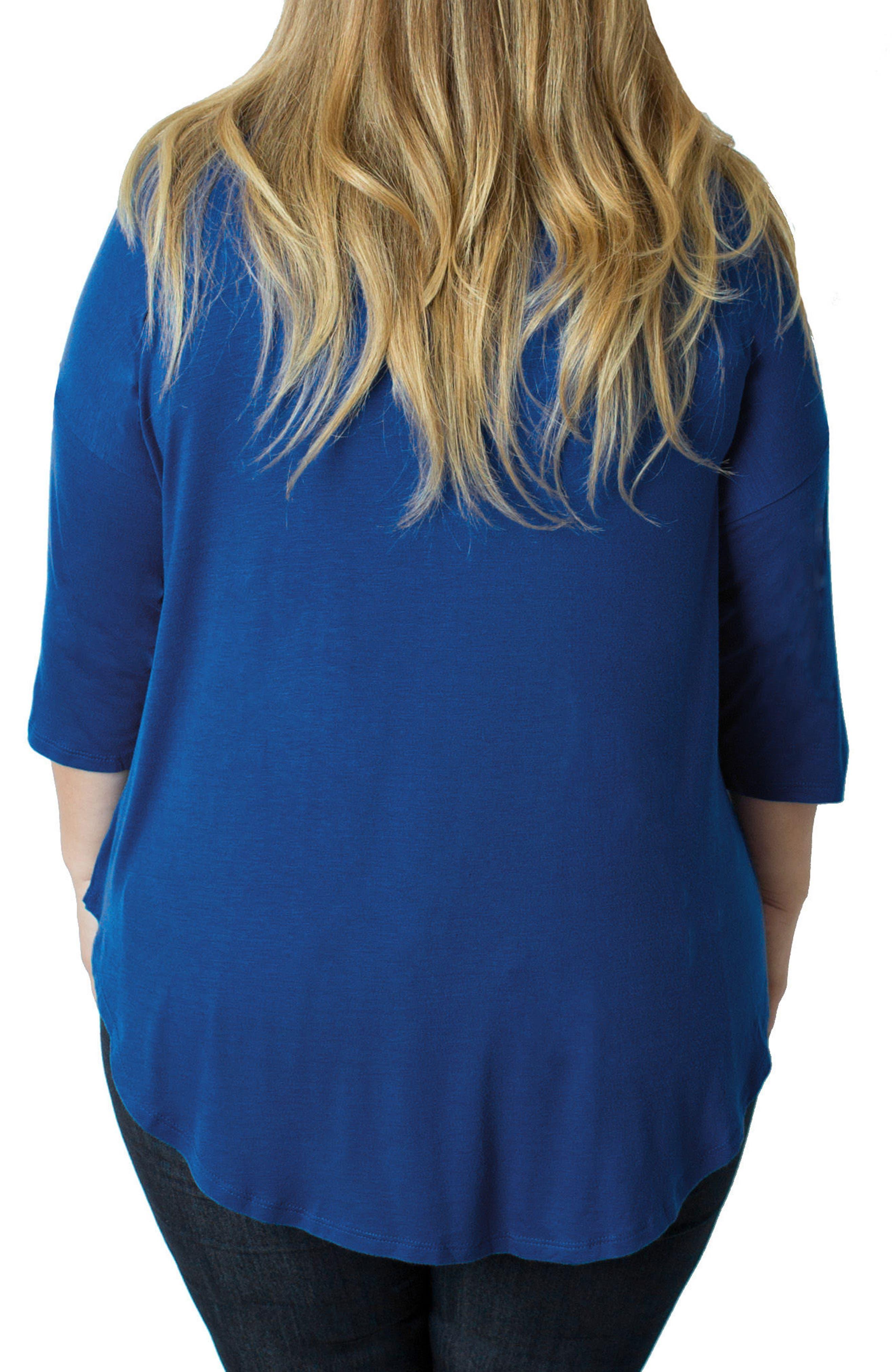 Alternate Image 2  - Udderly Hot Mama Button V-Neck Nursing Top (Plus Size)