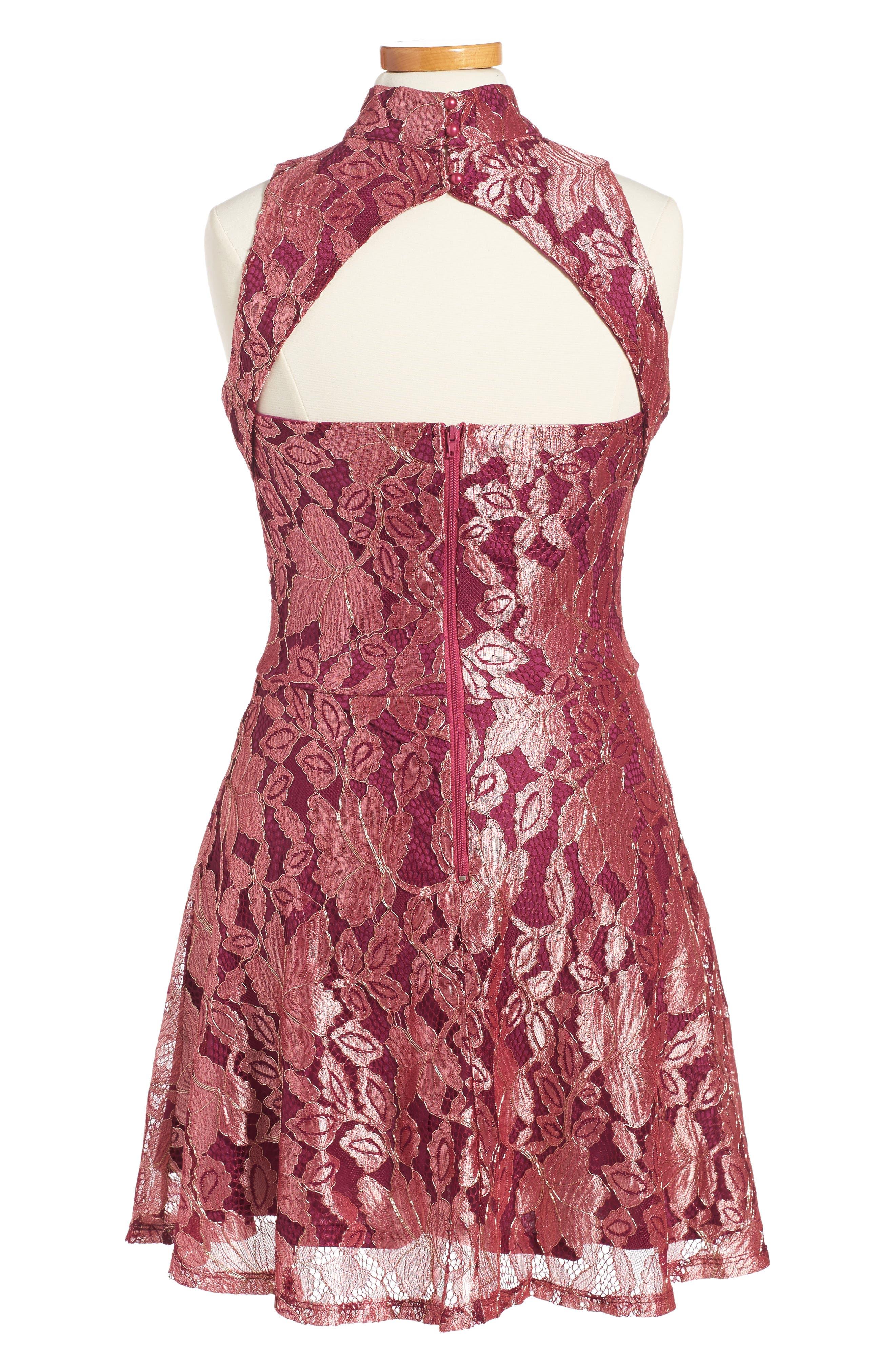 Alternate Image 2  - Penelope Tree Ariana Lace Dress (Big Girls)
