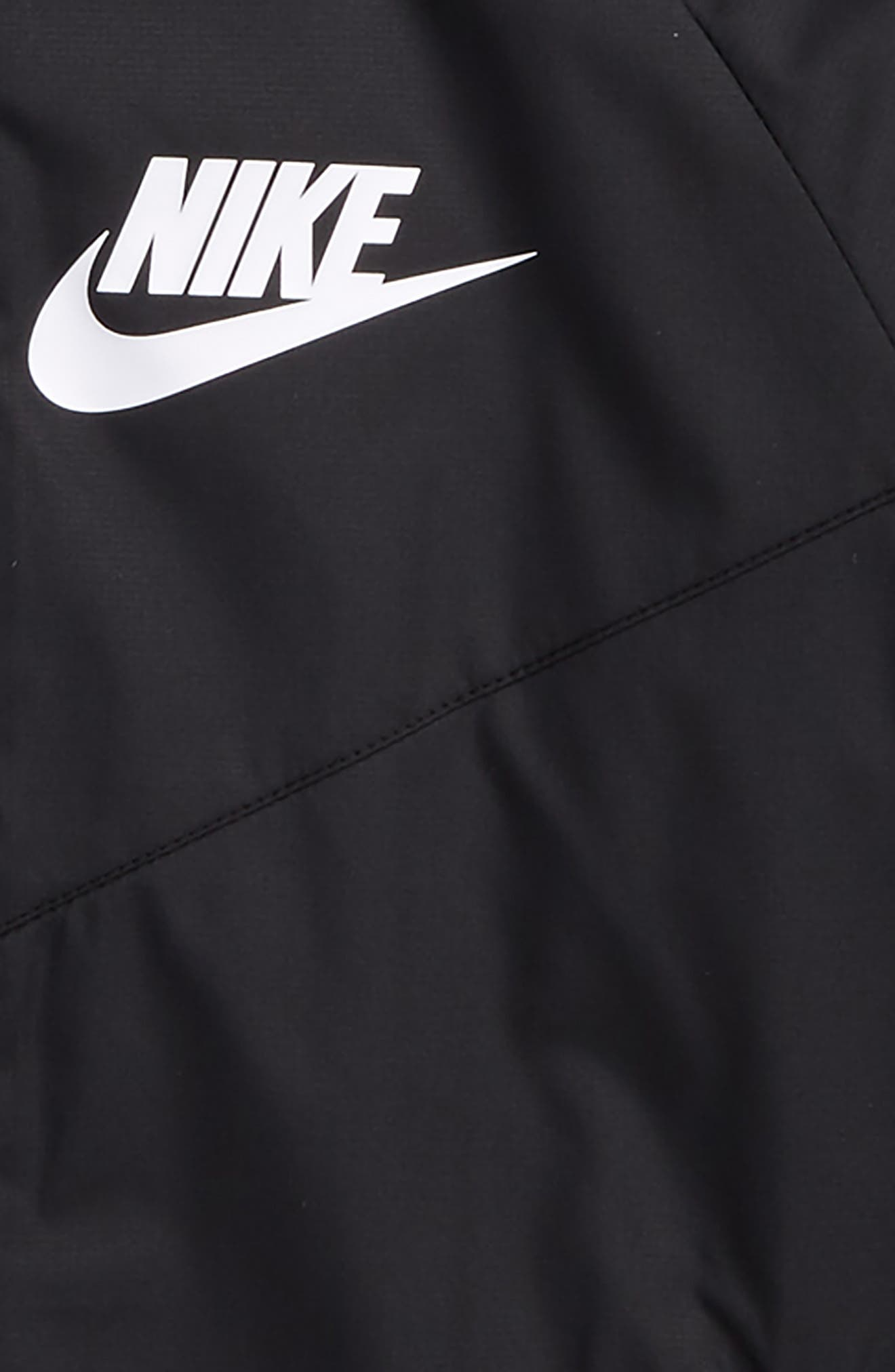 Windrunner Water Resistant Hooded Jacket,                             Alternate thumbnail 2, color,                             Black/ White