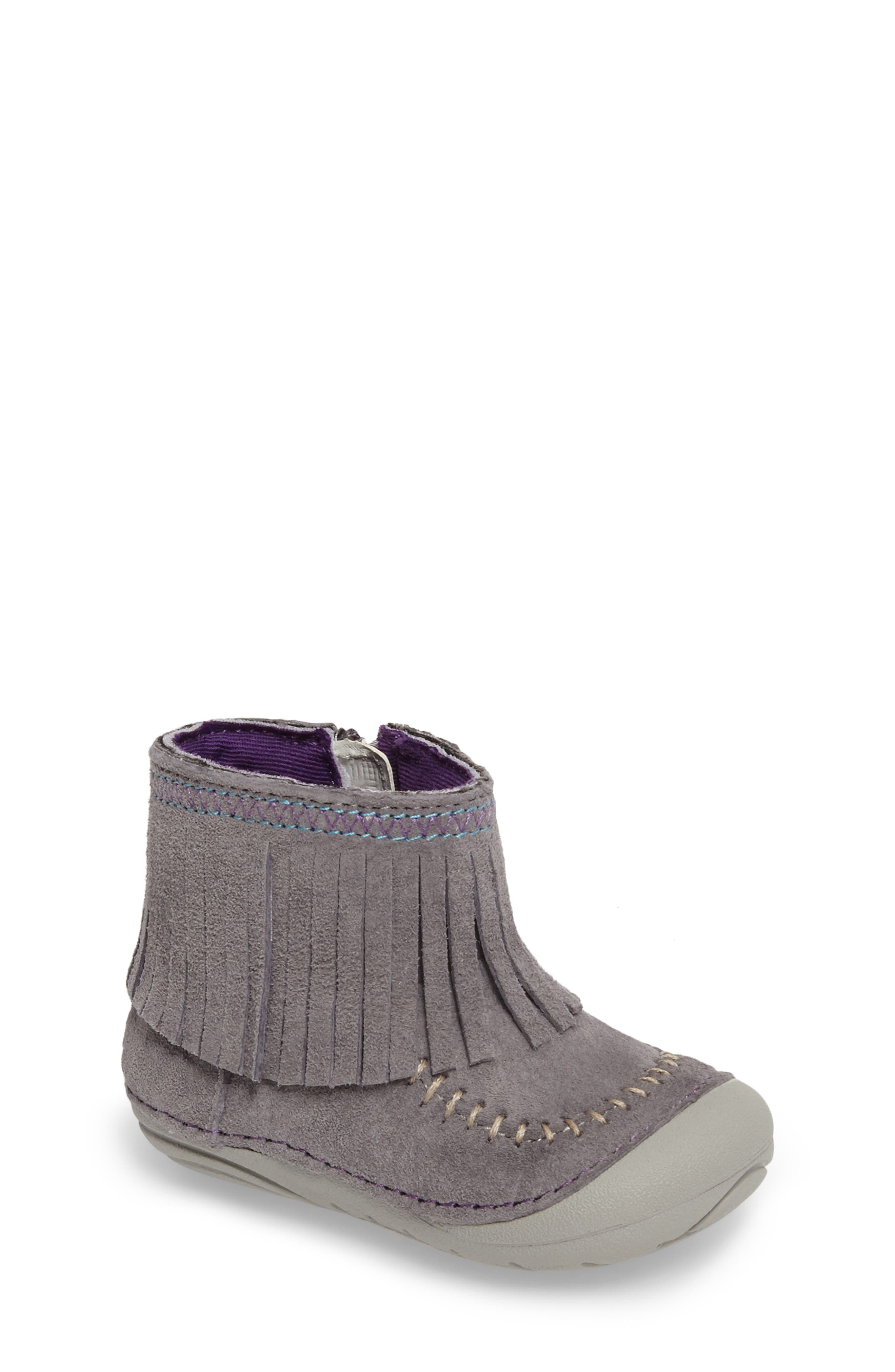 Stride Rite Soft Motion™ Tasha Fringed Bootie (Baby & Walker)