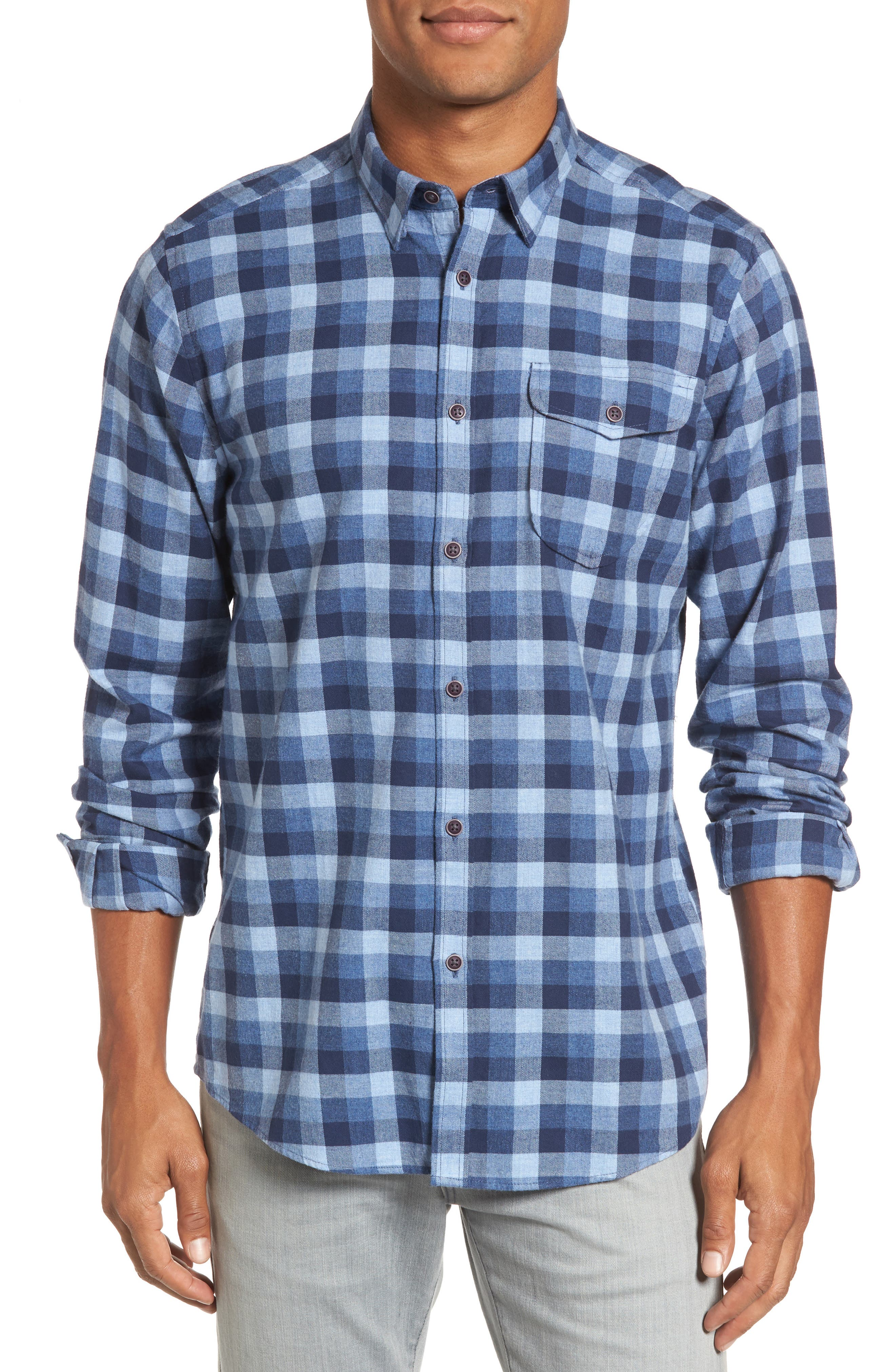 Alternate Image 1 Selected - Barbour Grill Regular Fit Check Sport Shirt