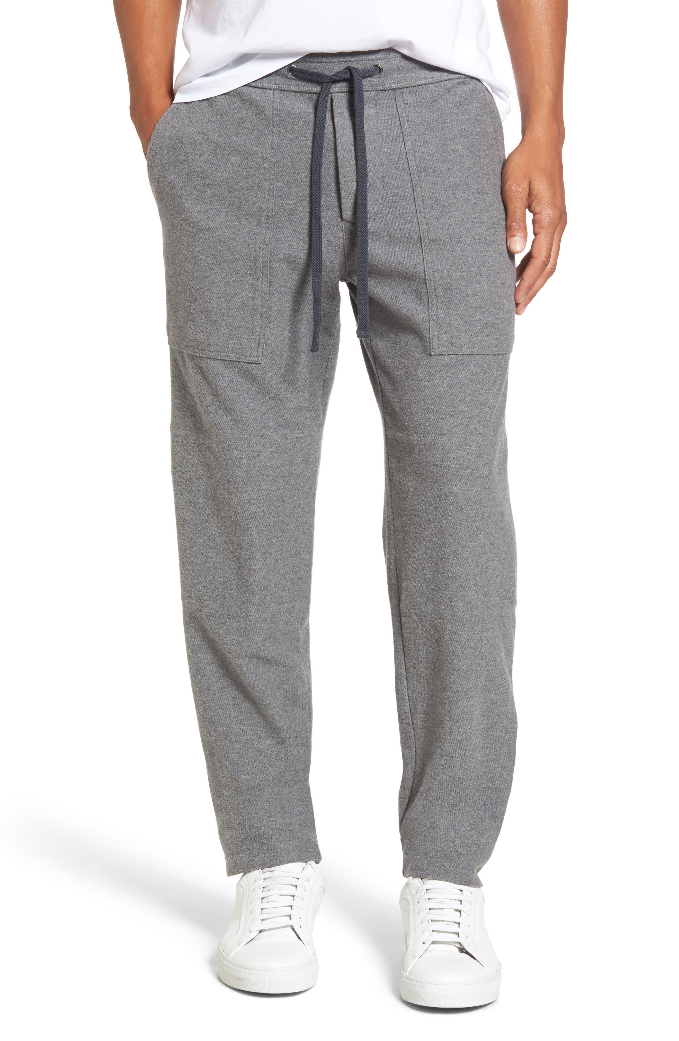 Heathered Knit Lounge Pants,                             Main thumbnail 1, color,                             Heather Grey
