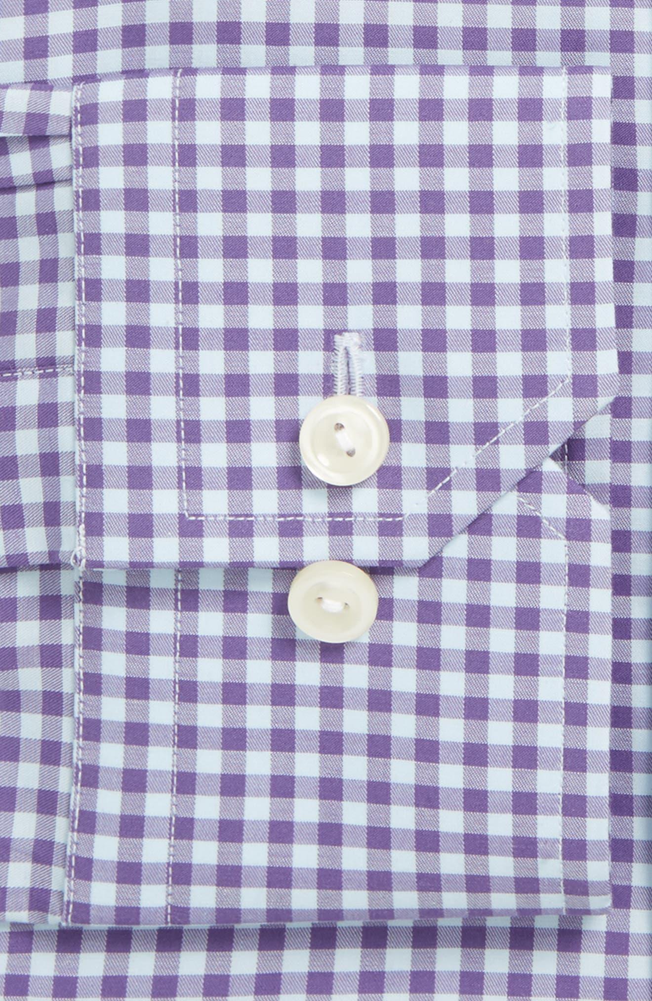 Contemporary Fit Check Dress Shirt,                             Alternate thumbnail 2, color,                             Purple