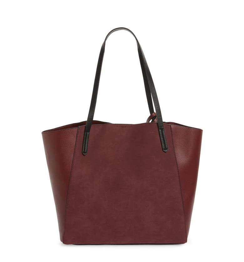 Colorblock Faux Leather Tote