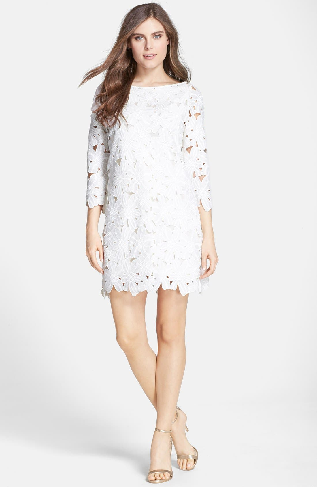 Alternate Image 3  - Felicity & Coco Belza Floral Lace Shift Dress (Nordstrom Exclusive)