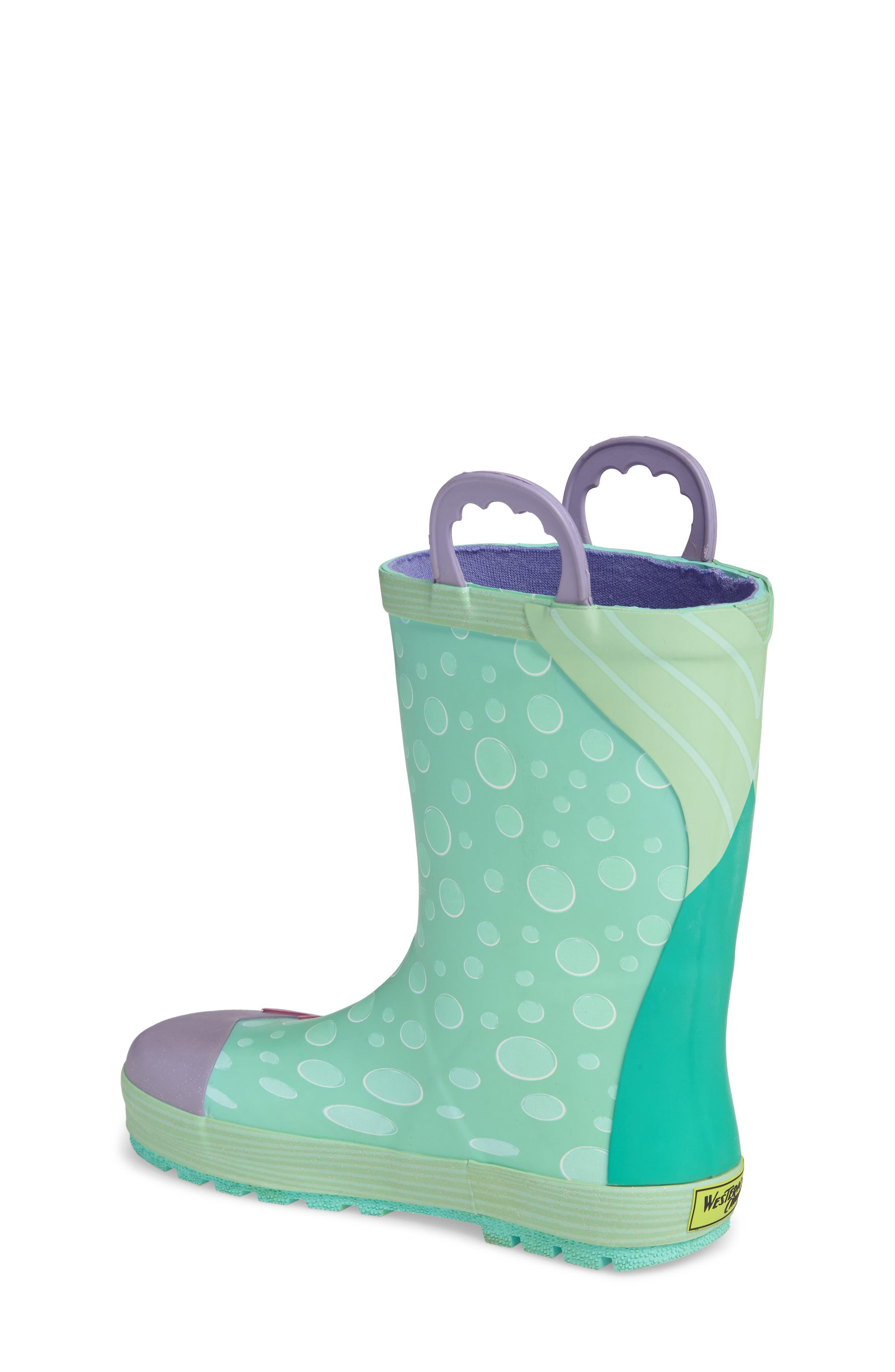 Ariel Rain Boot,                             Alternate thumbnail 2, color,                             Aqua