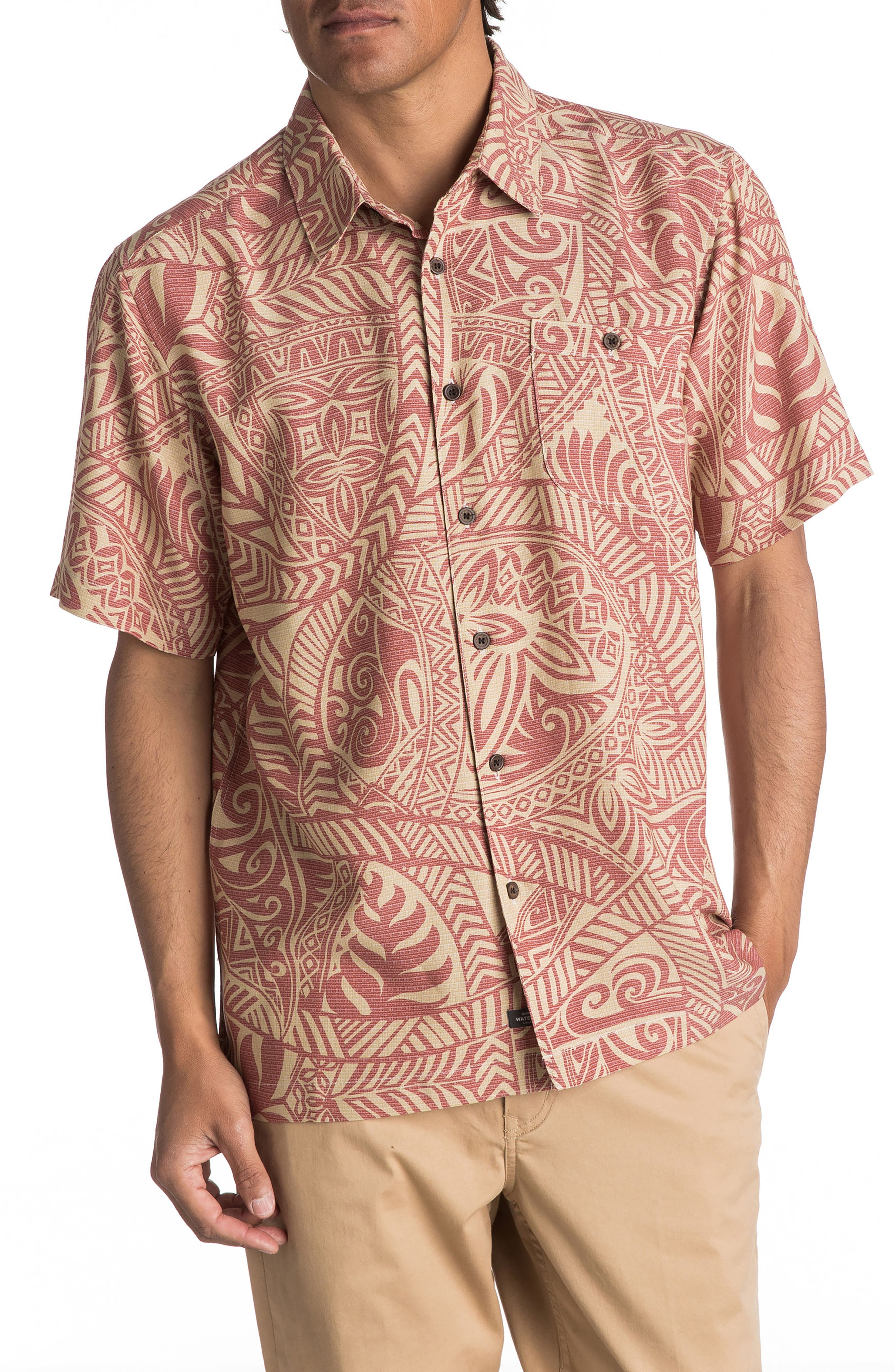 Quiksilver Waterman Collection Tribal Dance Camp Shirt