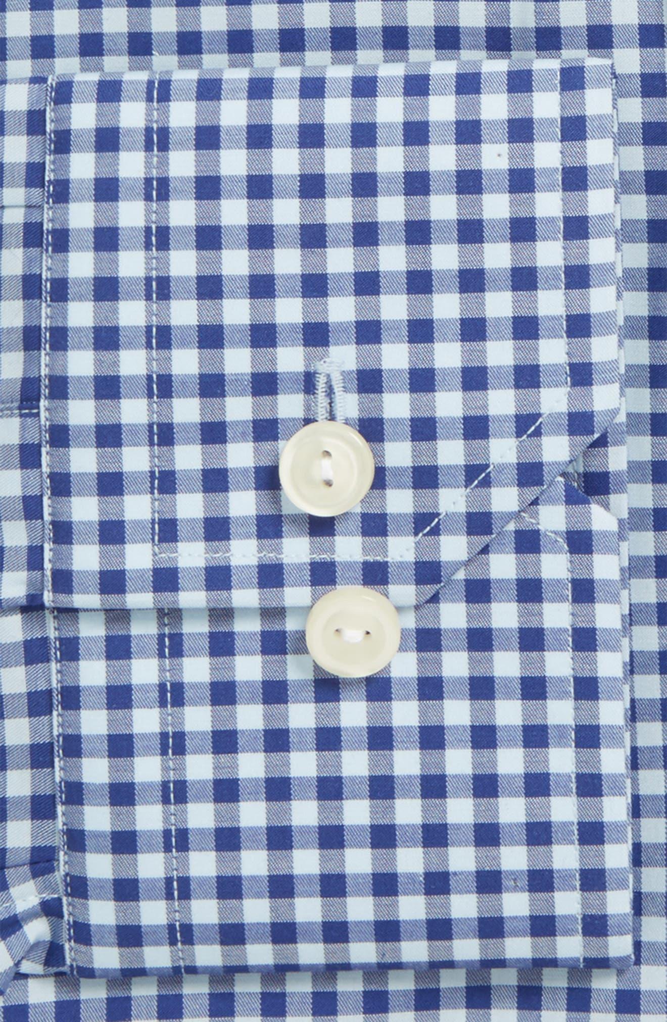 Slim Fit Check Dress Shirt,                             Alternate thumbnail 2, color,                             Blue