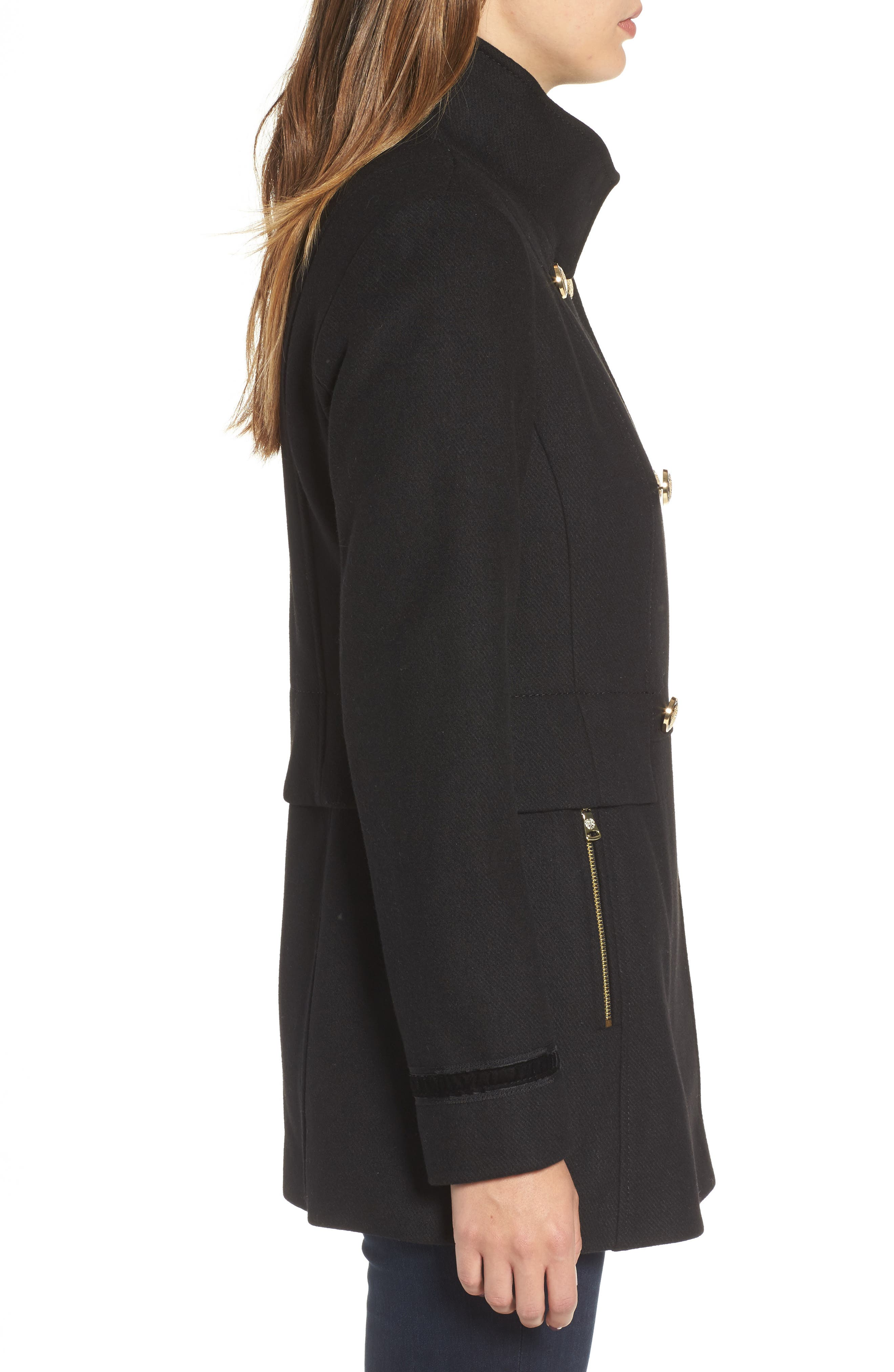 Alternate Image 3  - Vince Camuto Wool Blend Military Coat