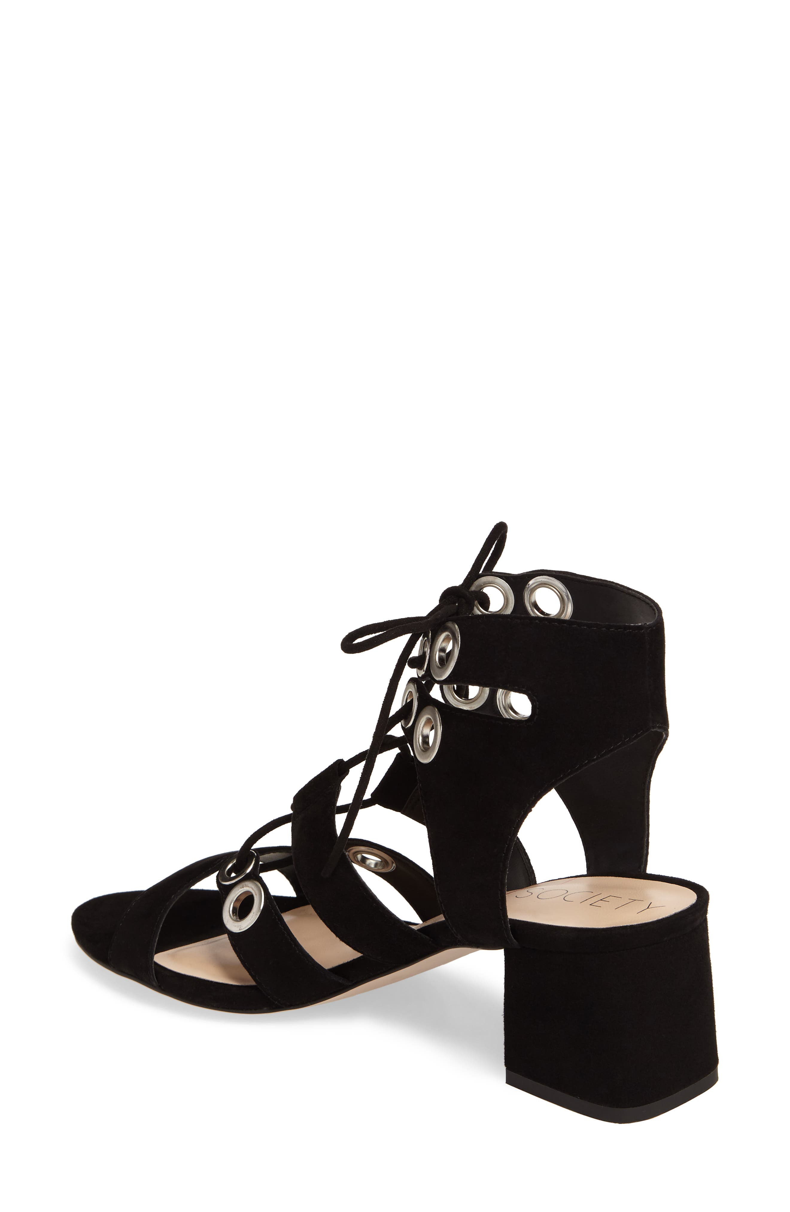 Rosemary Lace-Up Sandal,                             Alternate thumbnail 2, color,                             Black