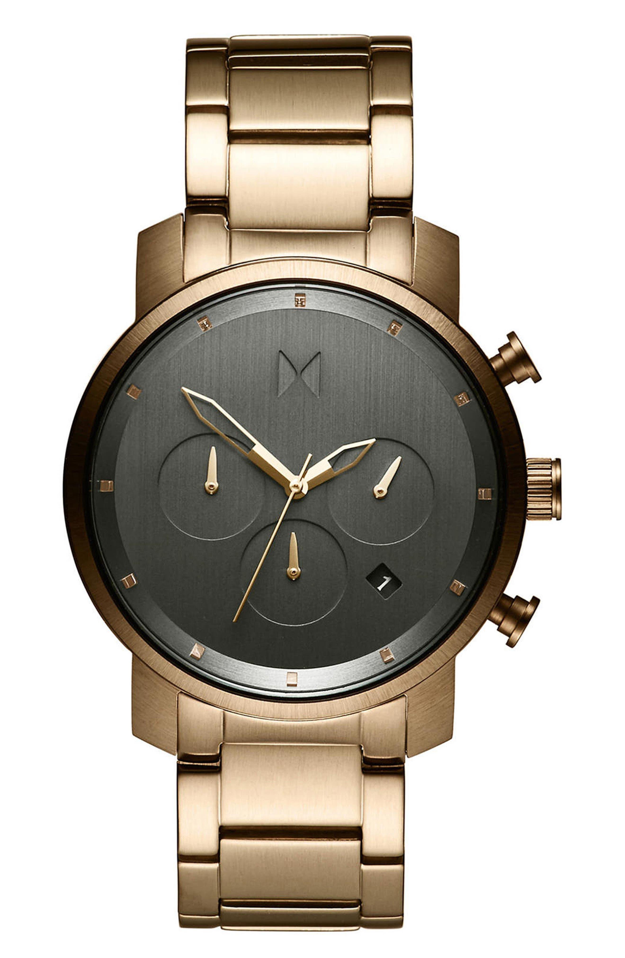 Chrono Chronograph Bracelet Watch, 40mm,                         Main,                         color, Gunmetal/ Stainless