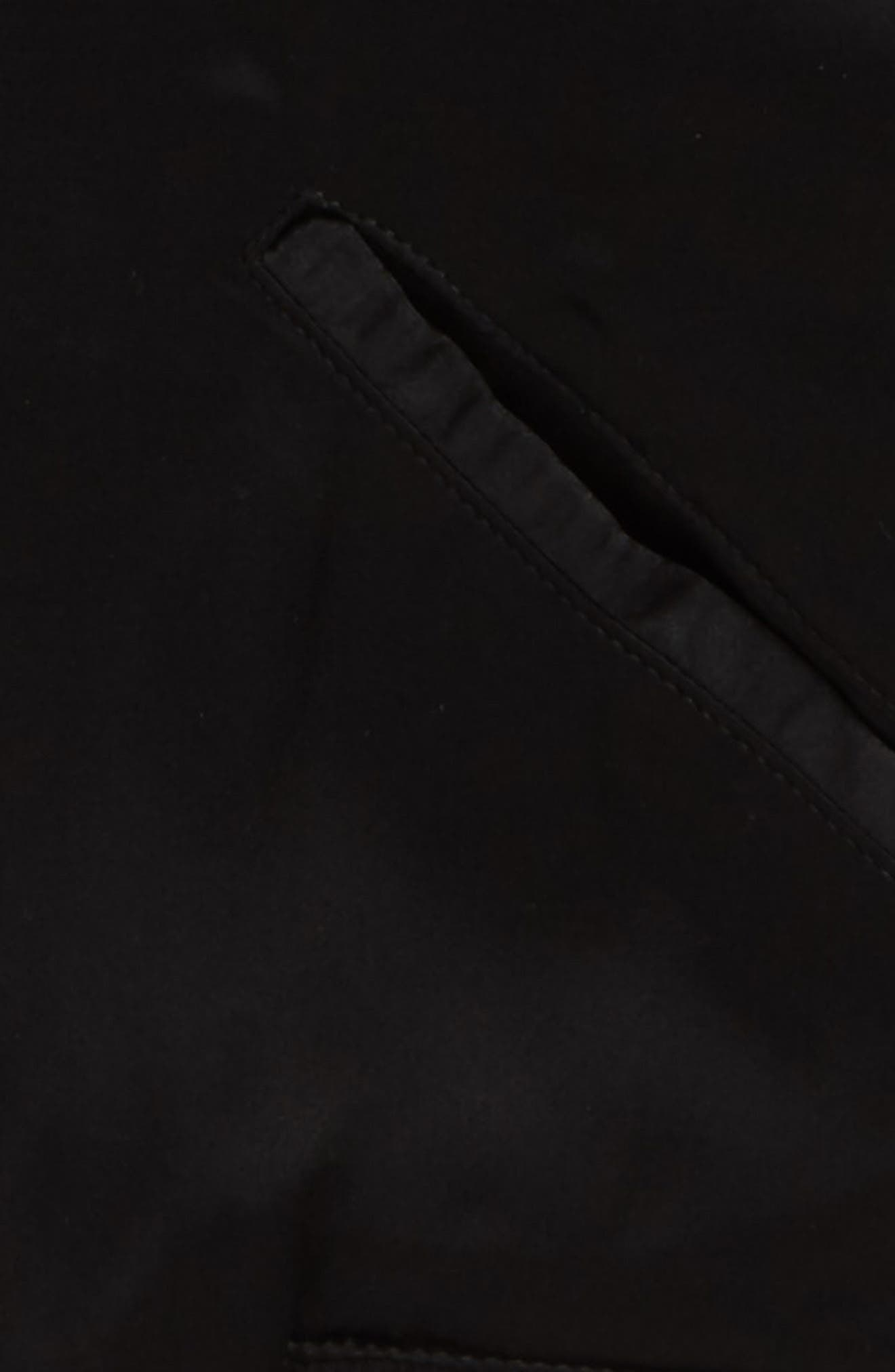 Tristan Silk Bomber Jacket,                             Alternate thumbnail 2, color,                             Black