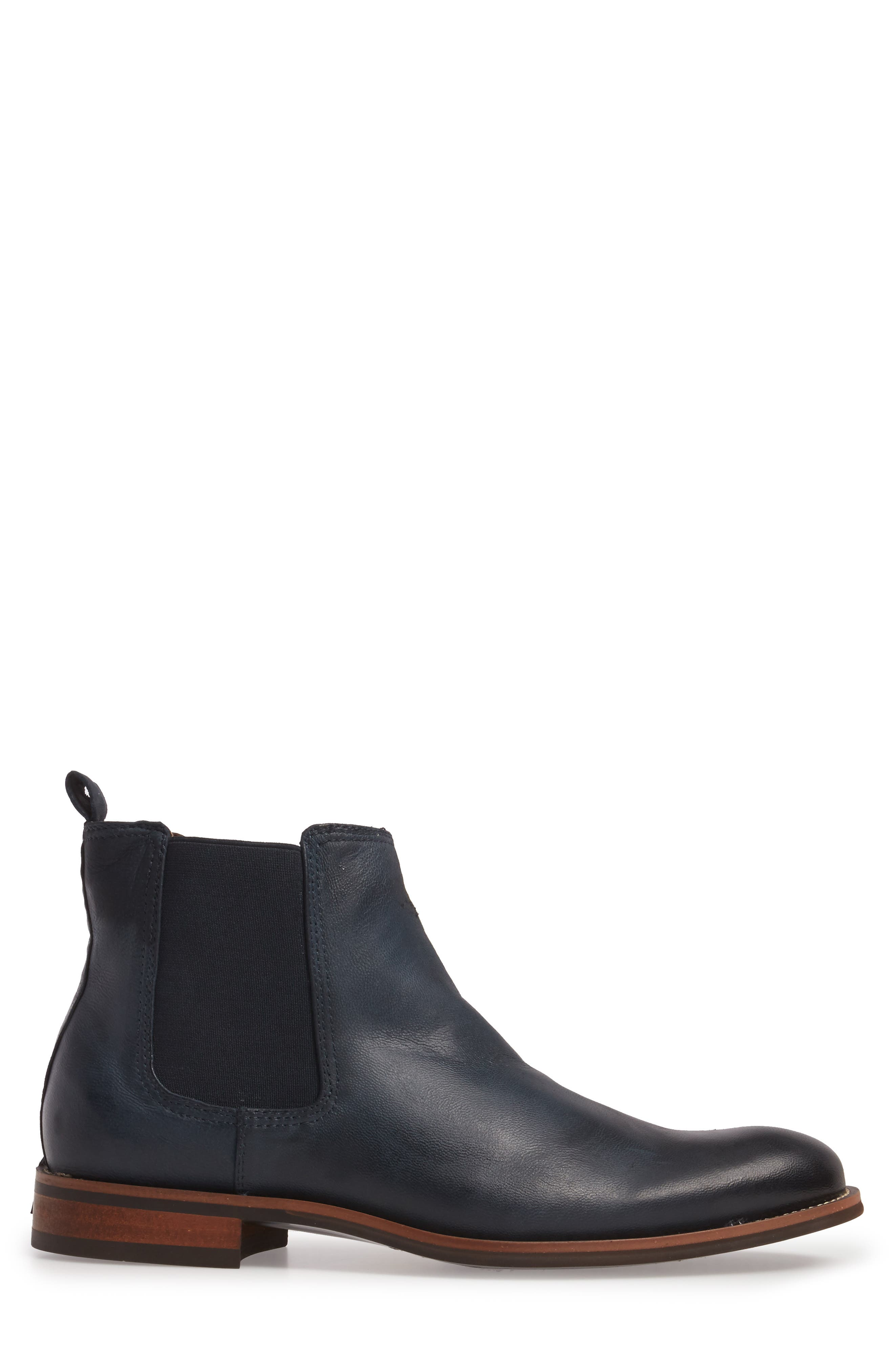 Lawson Chelsea Boot,                             Alternate thumbnail 3, color,                             Navy