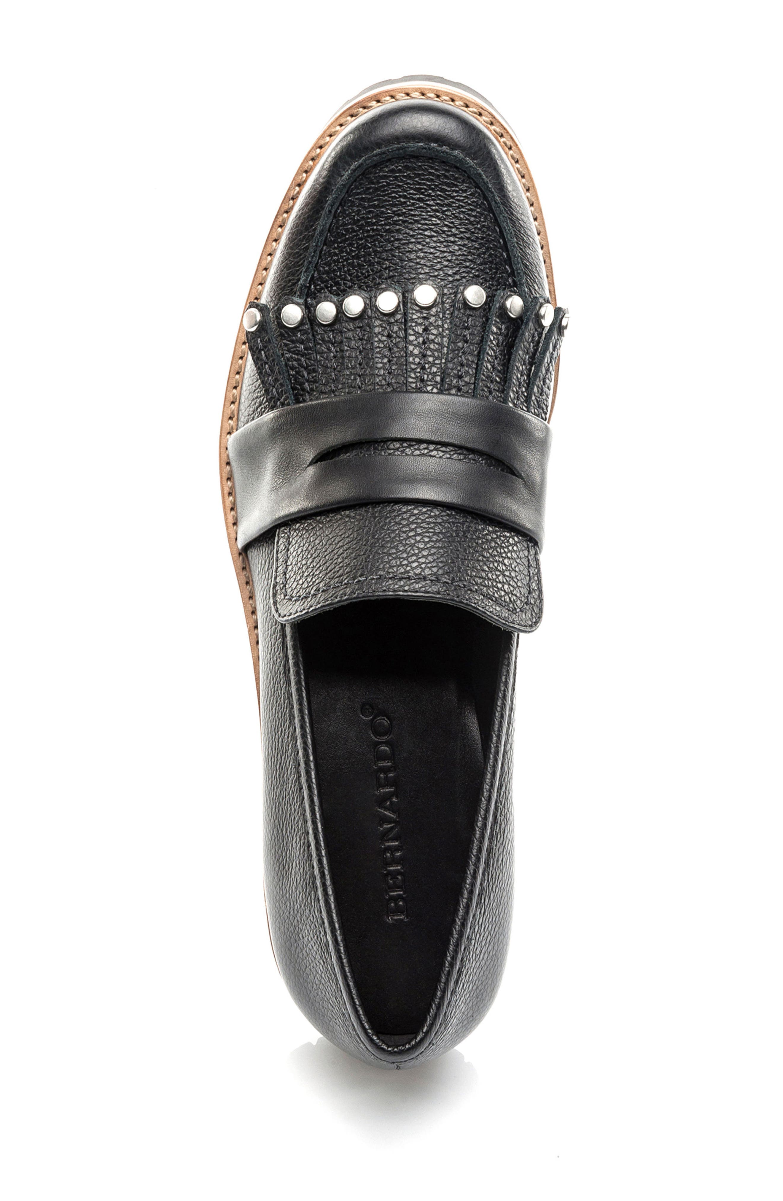 Olley Loafer,                             Alternate thumbnail 5, color,                             Black Leather