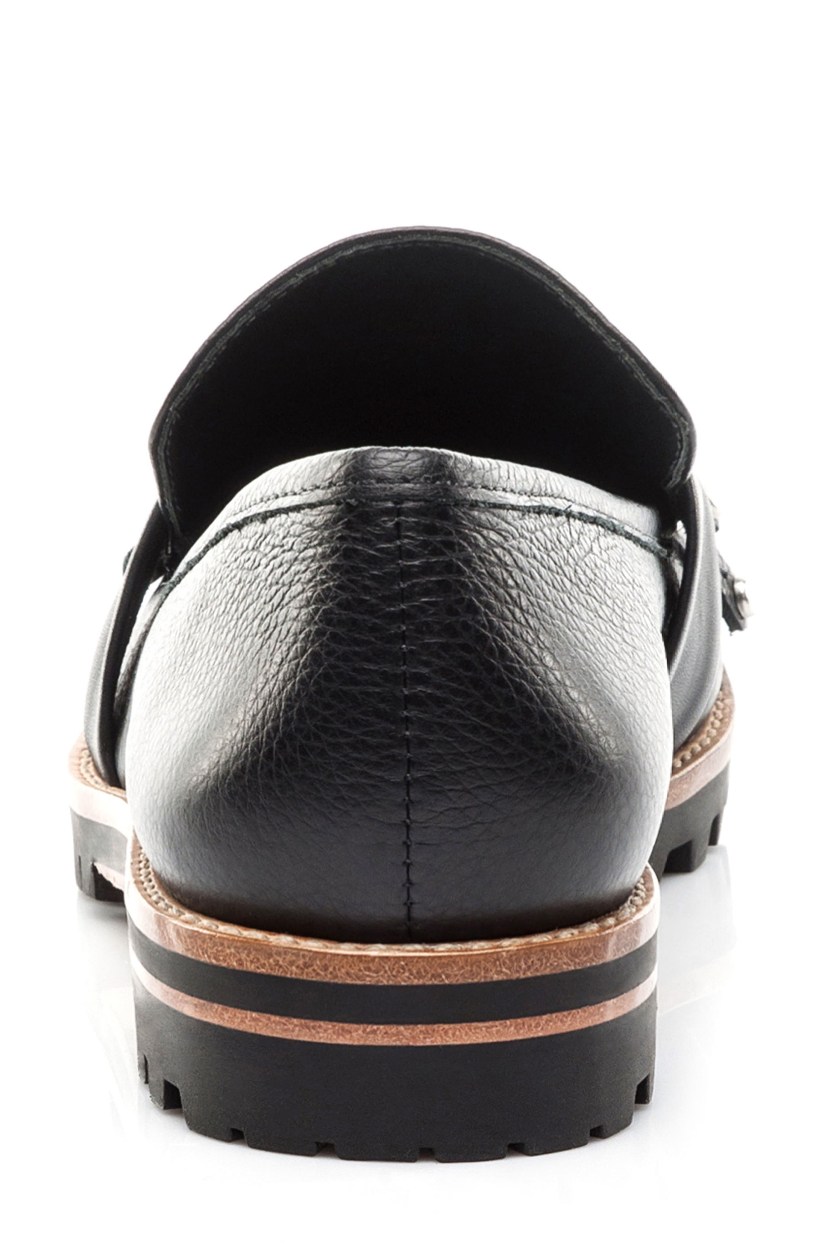 Olley Loafer,                             Alternate thumbnail 7, color,                             Black Leather