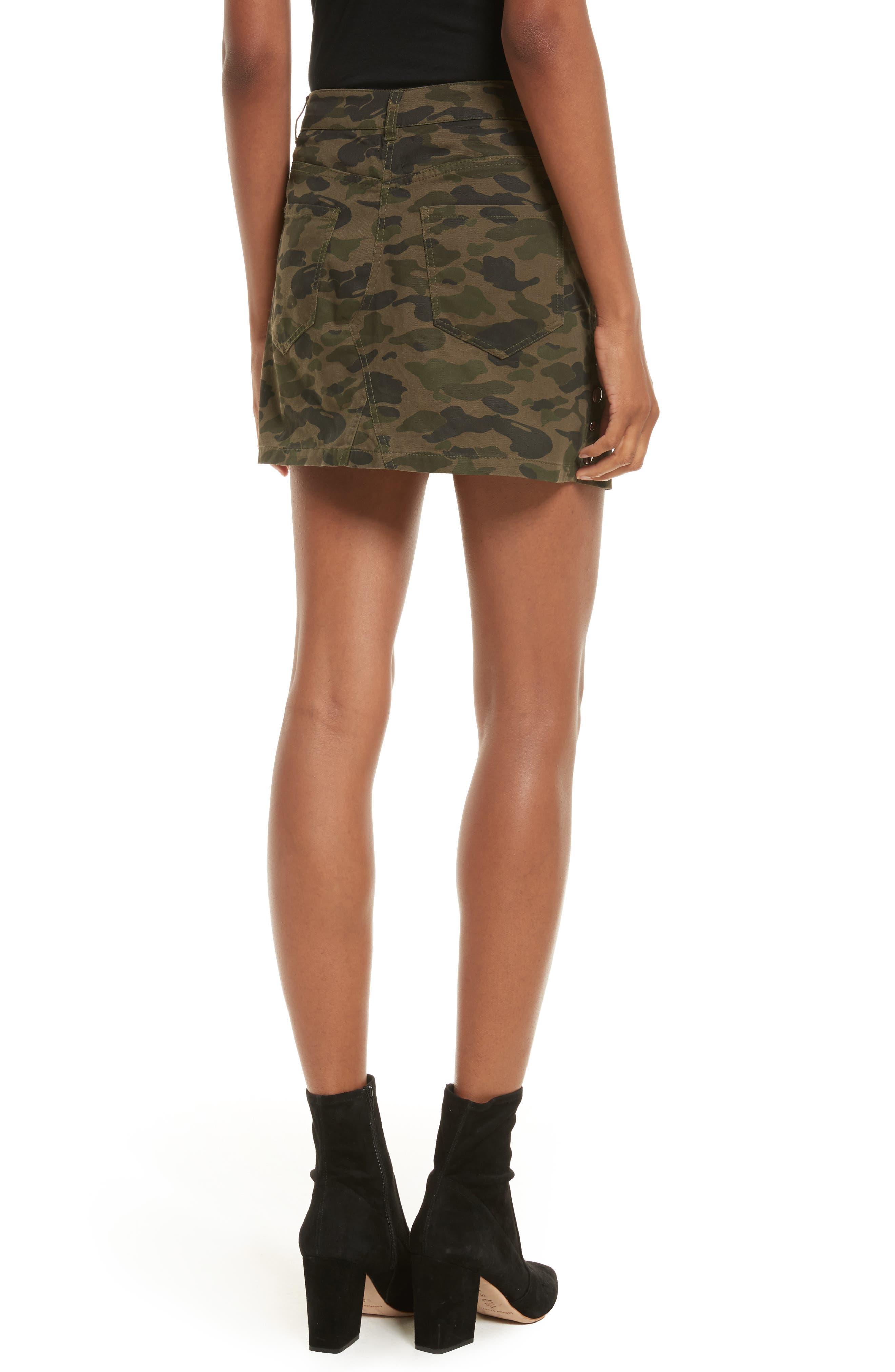 Dove Camo Miniskirt,                             Alternate thumbnail 2, color,                             Camouflage