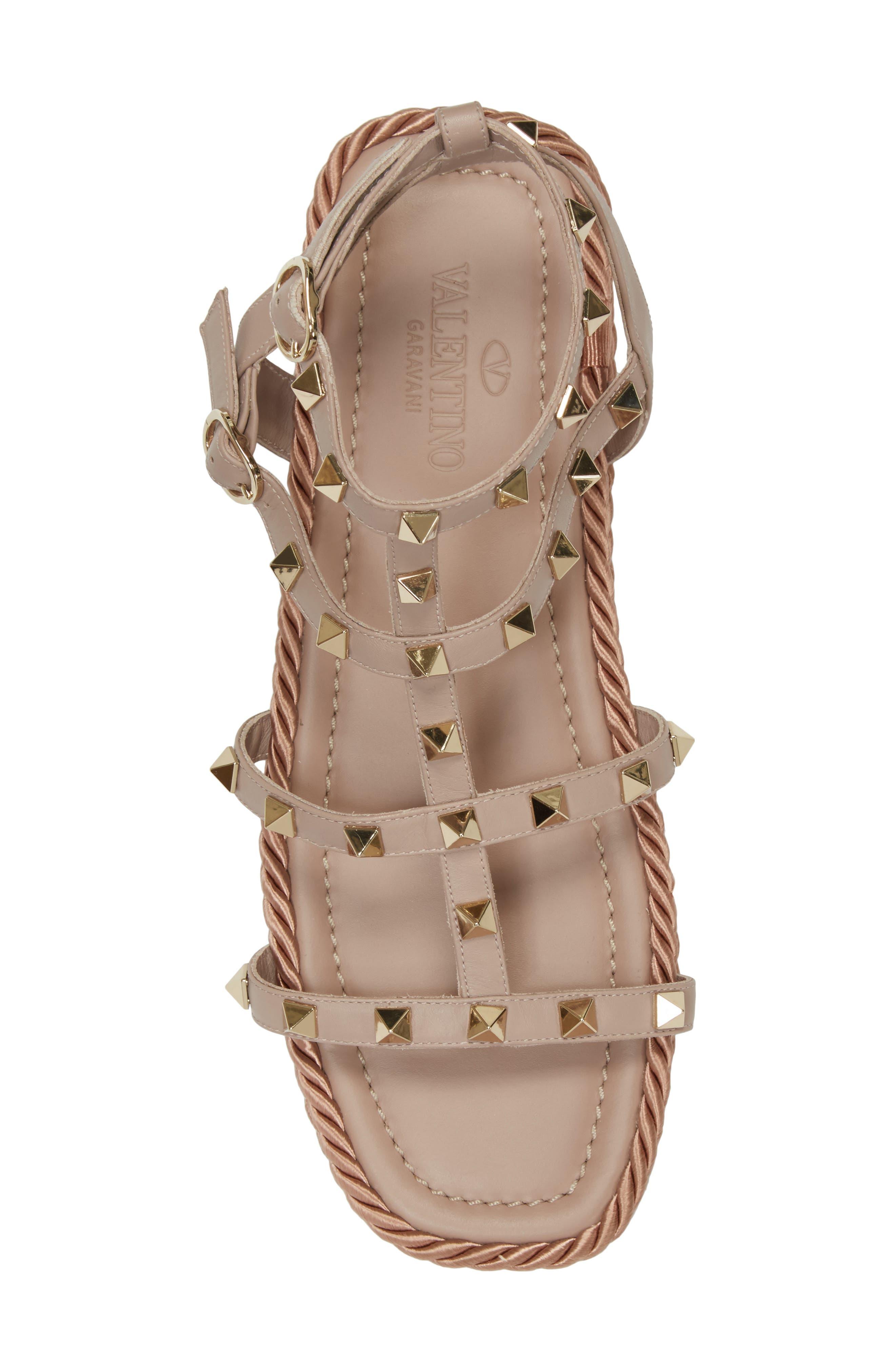 Torchon Strappy Sandal,                             Alternate thumbnail 5, color,                             Beige