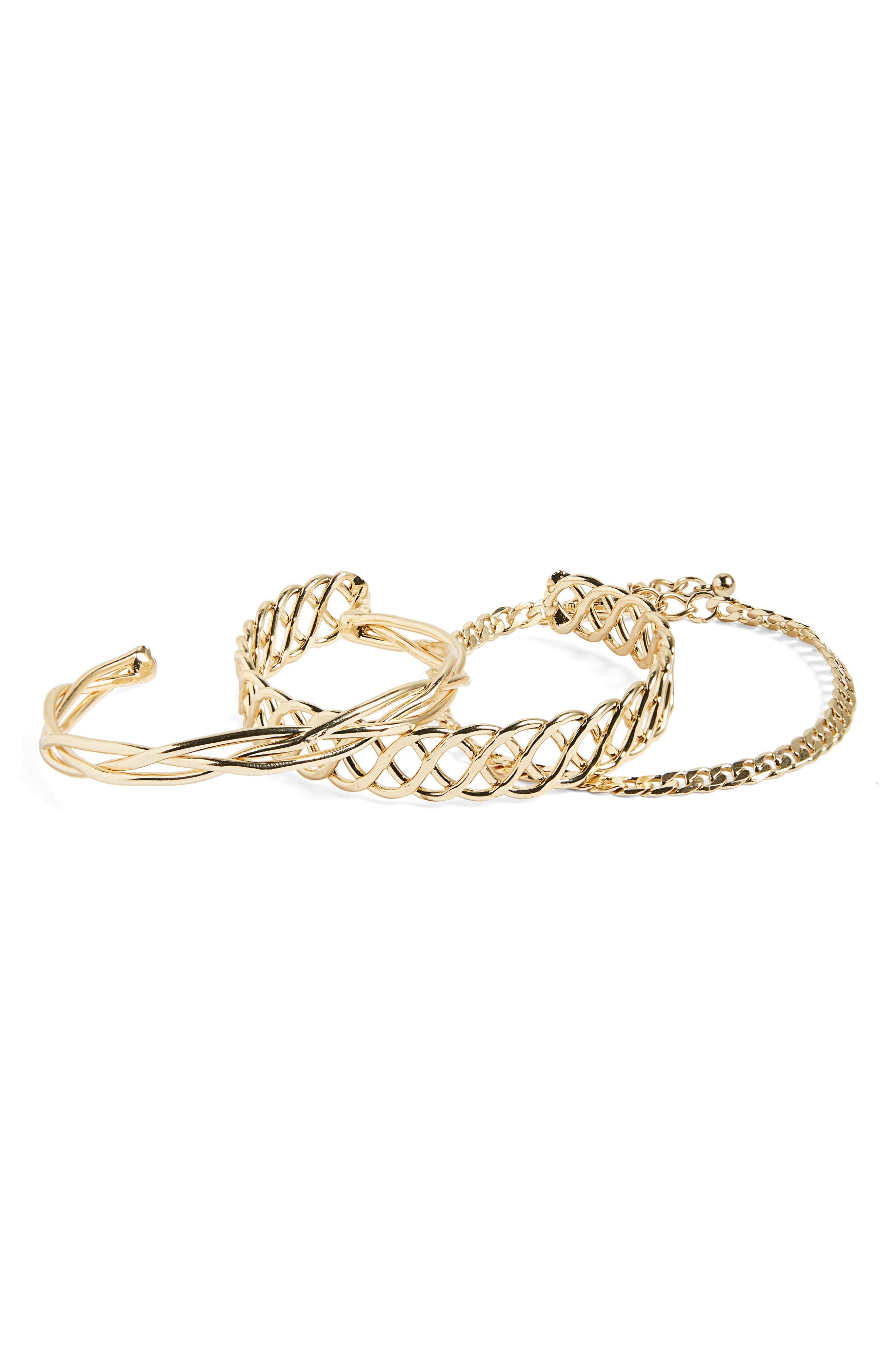 BP. 3-Pack Chain Bracelets