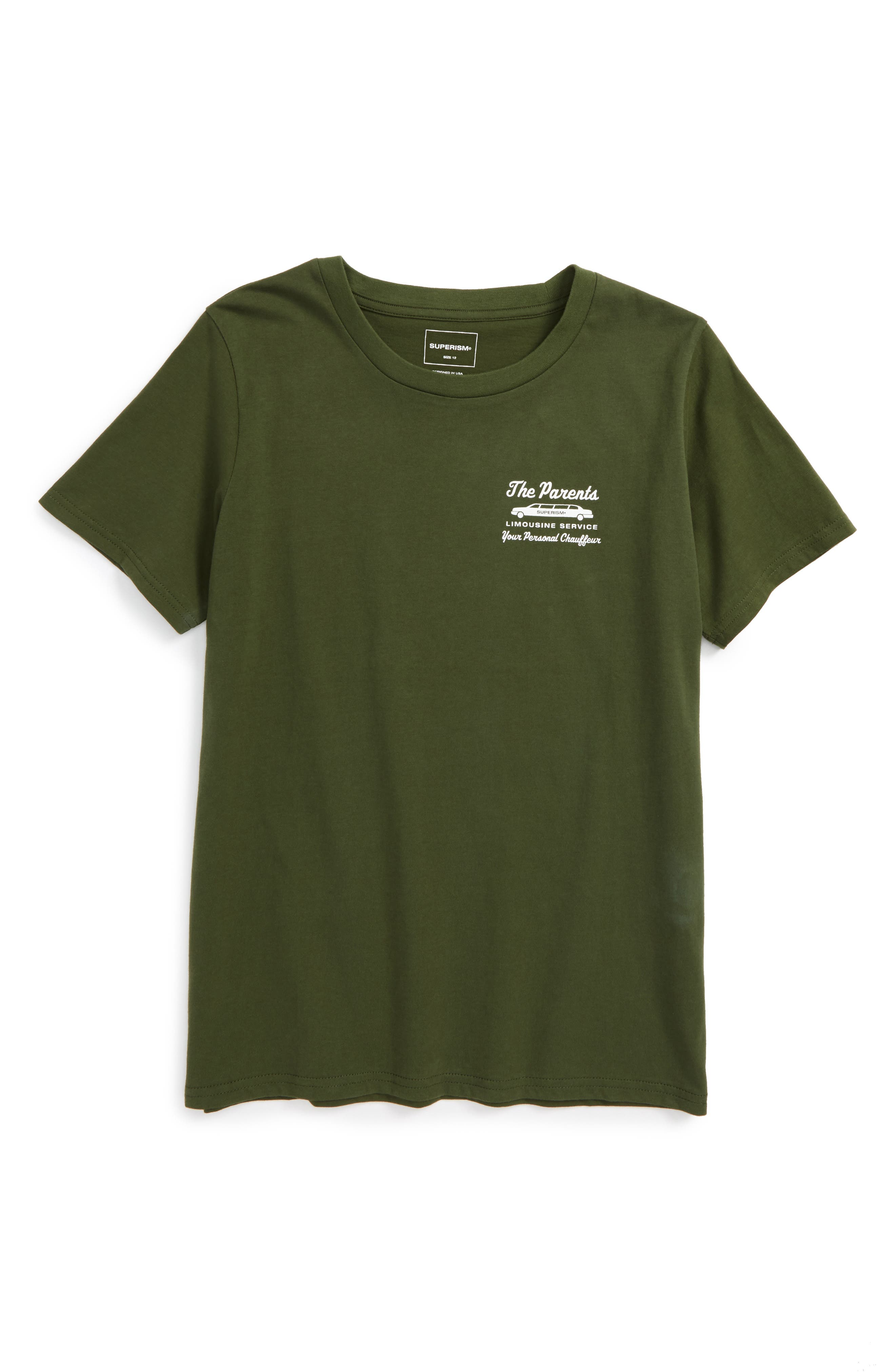 Alternate Image 1 Selected - Superism The Parents Limousine Service T-Shirt (Big Boys)