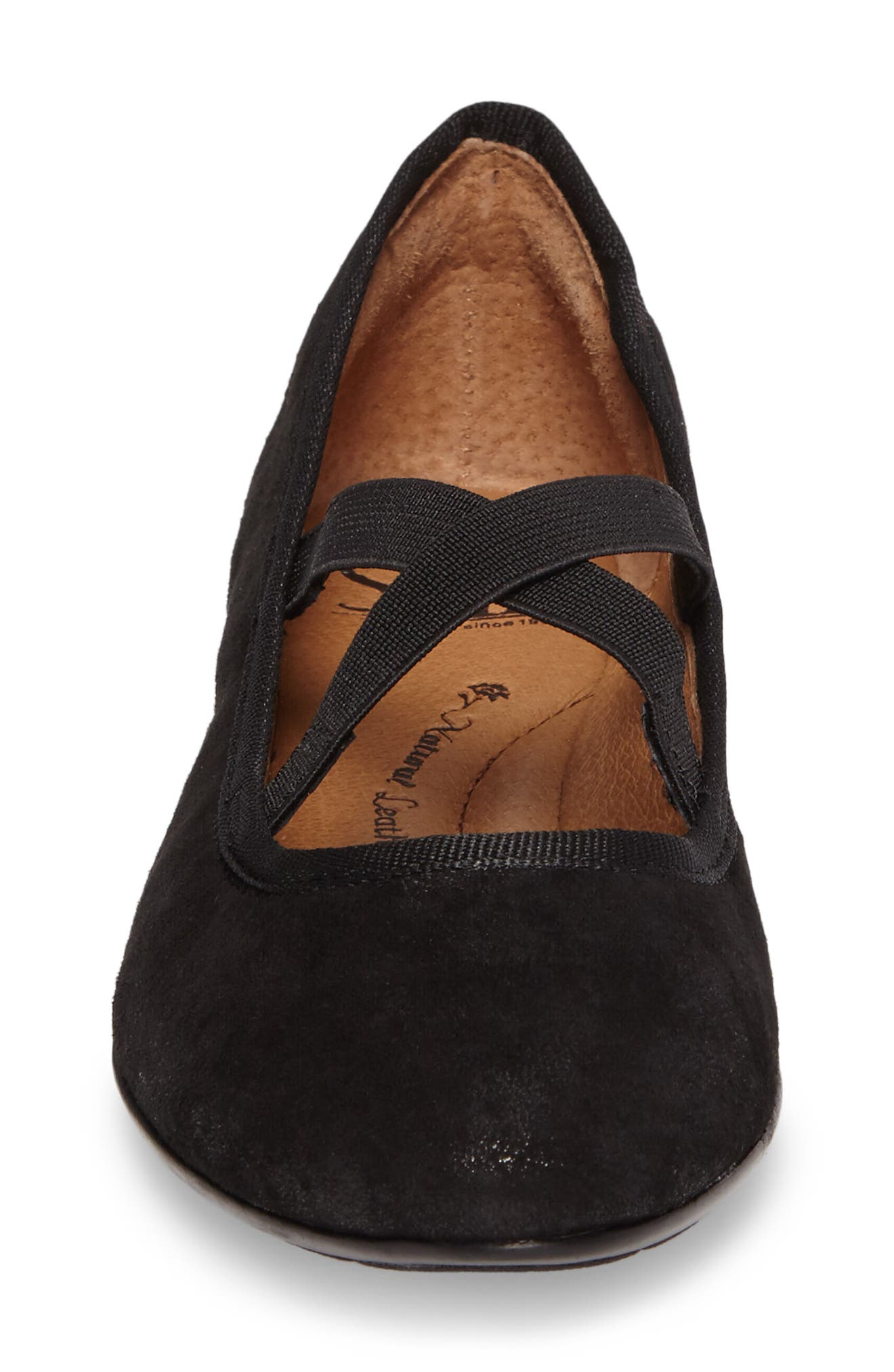Barris Ballet Flat,                             Alternate thumbnail 4, color,                             Black Suede