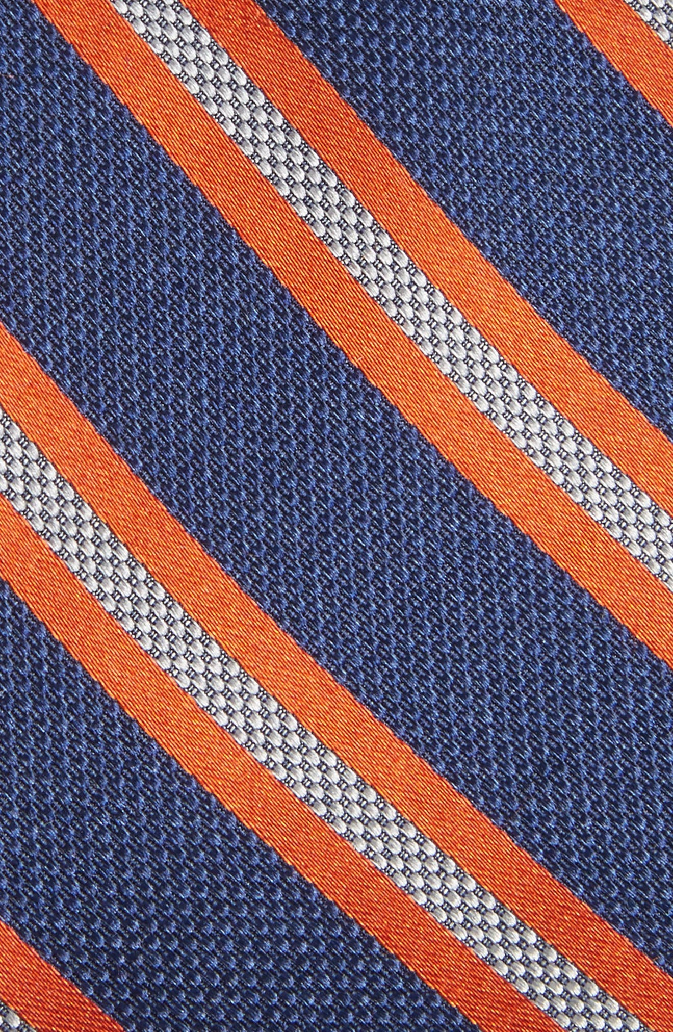 Oxford Stripe Silk Tie,                             Alternate thumbnail 2, color,                             Navy