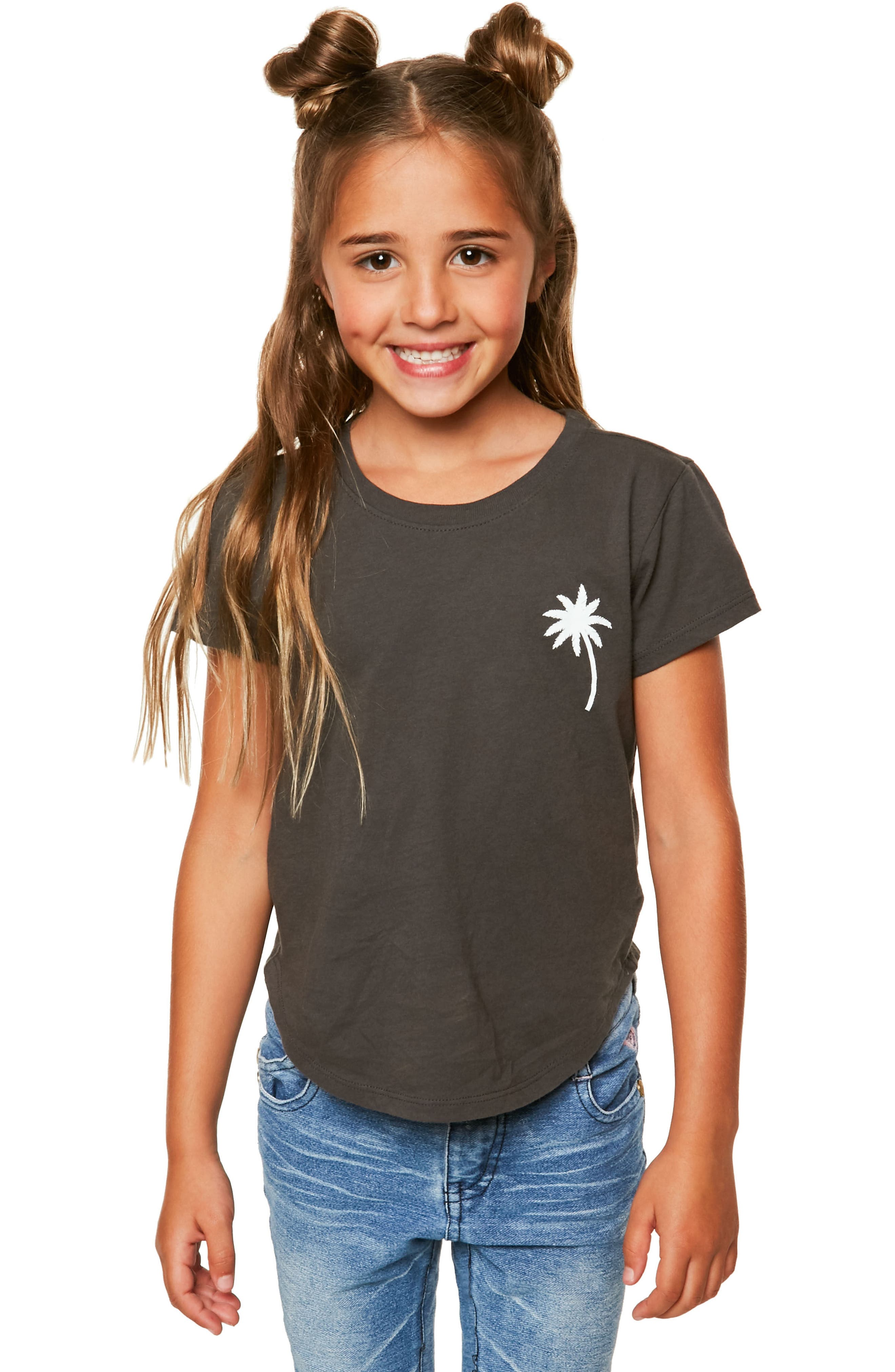 Sunup Graphic Print Tee,                             Main thumbnail 1, color,                             Washed Black - Fad