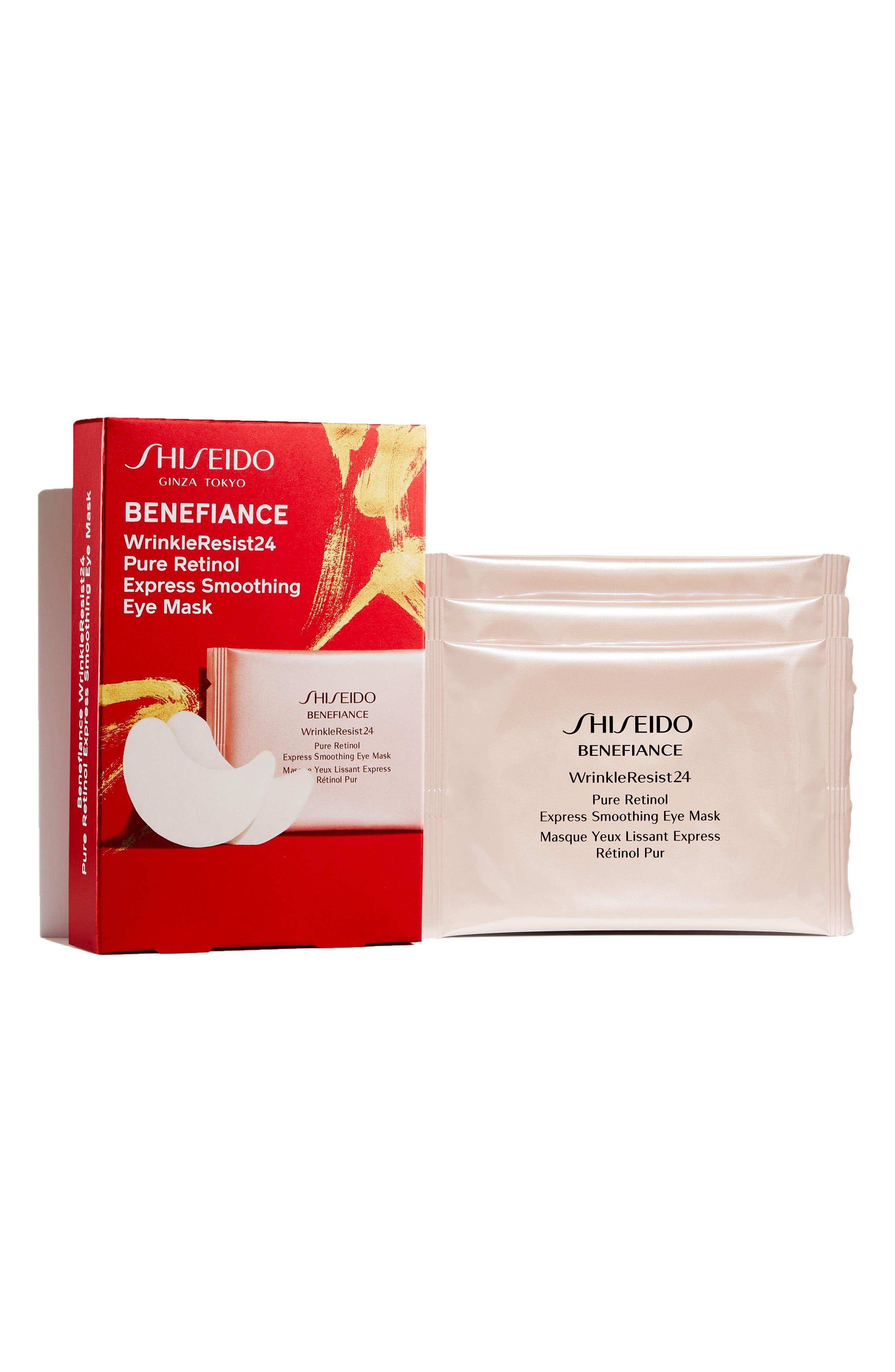 Main Image - Shiseido Benefiance WrinkleResist24 Pure Retinol Express Smoothing 3-Pack Eye Masks