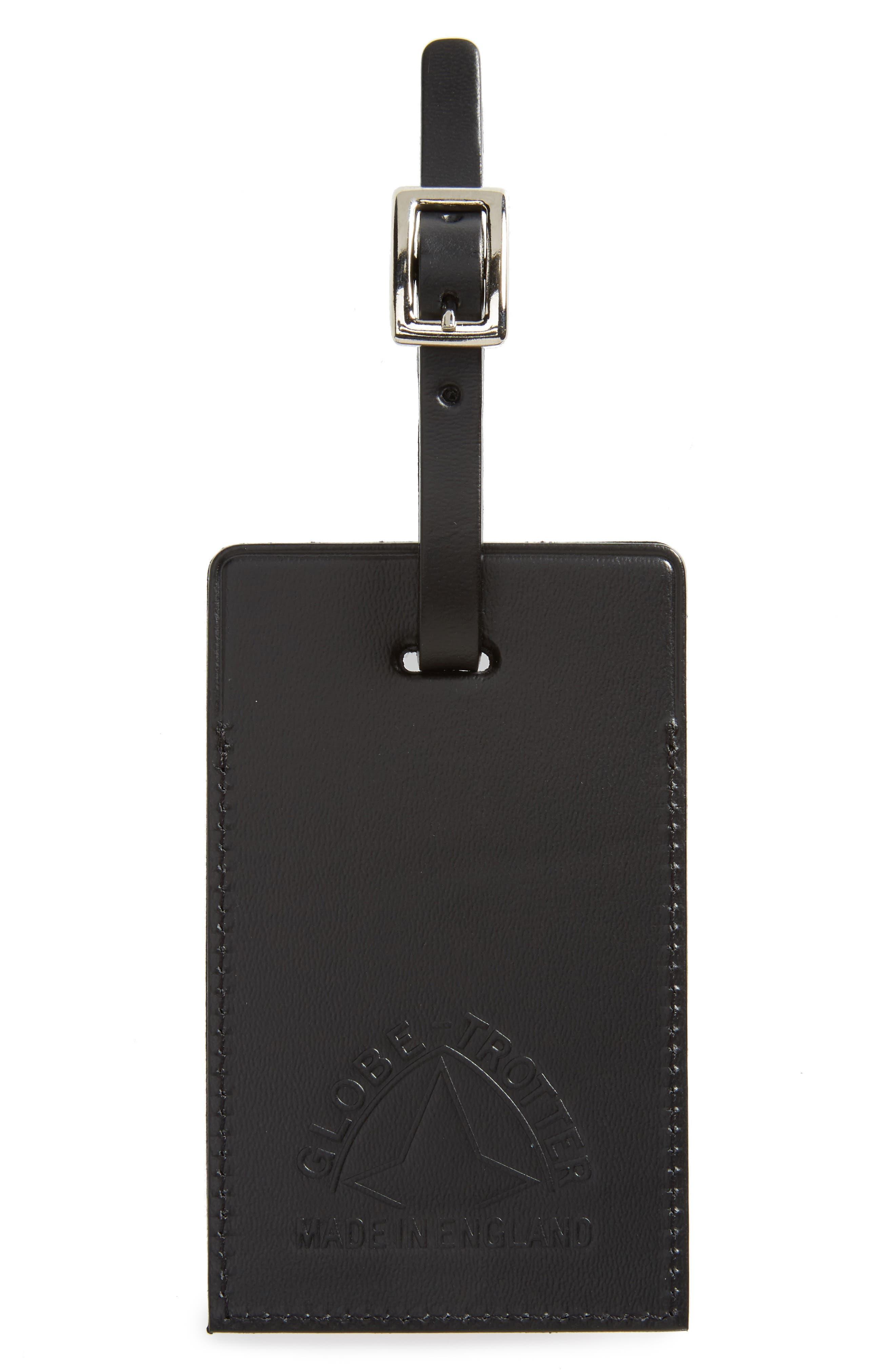 Centenary Luggage Tag,                         Main,                         color, Black